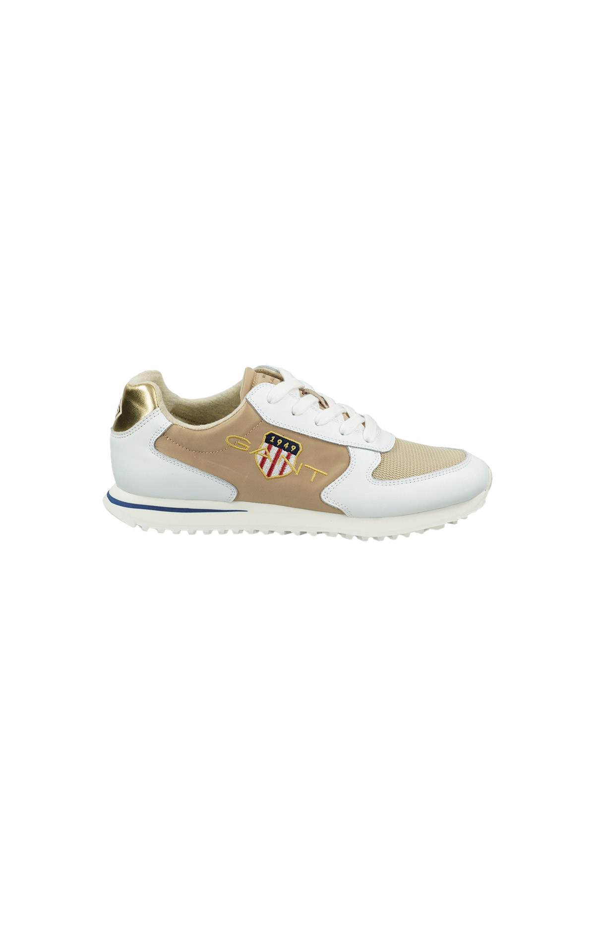 White and beige Beja sneaker Gant
