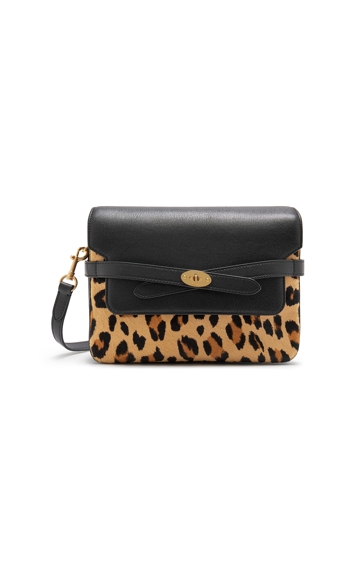 Mulberry Belted bayswter satchel leopard & silky camel and black from Bicester Village