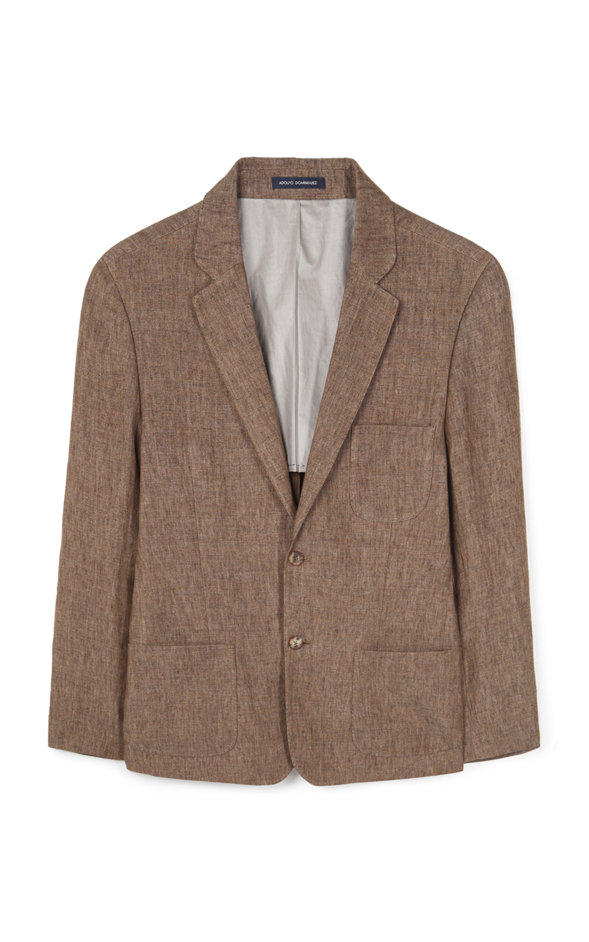 Brown linen blazer Adolfo Dominguez