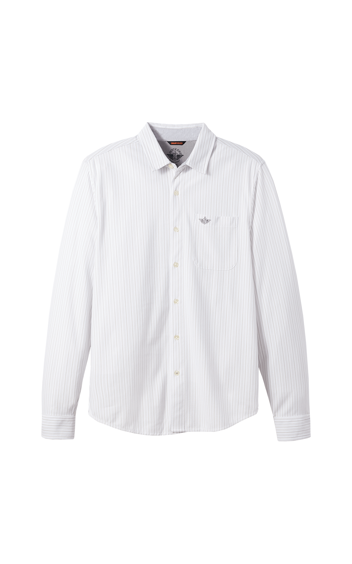 White striped cotton shirt for man Dockers