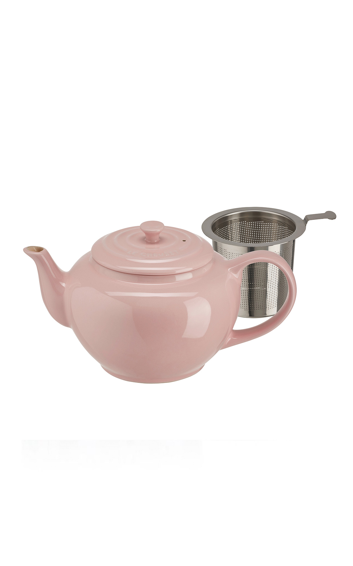 Pink tea pot Le Creuset