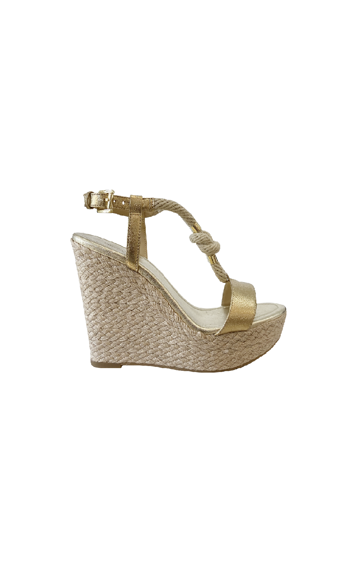 Gold sandal with platform Michael Kors
