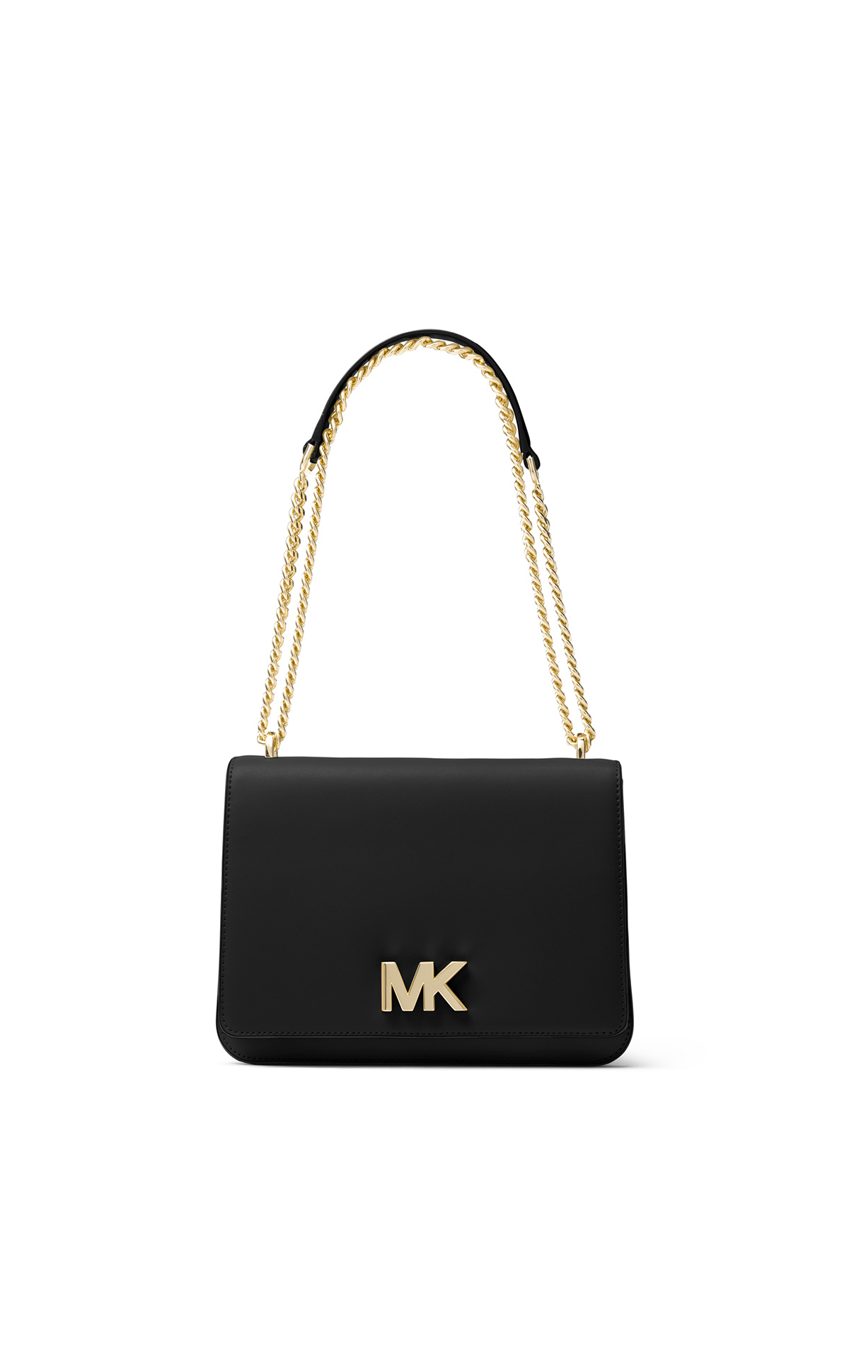 Michael Kors Women's large chain shoulder bag in black at The Bicester Village Shopping Collection