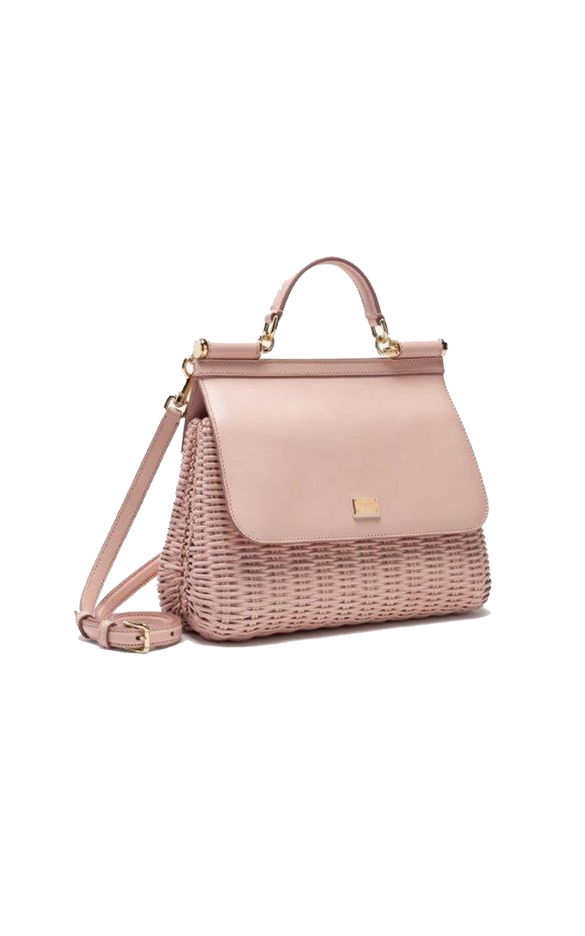 Dolce & Gabbana Leather and wicker sicily medium bag from Bicester Village