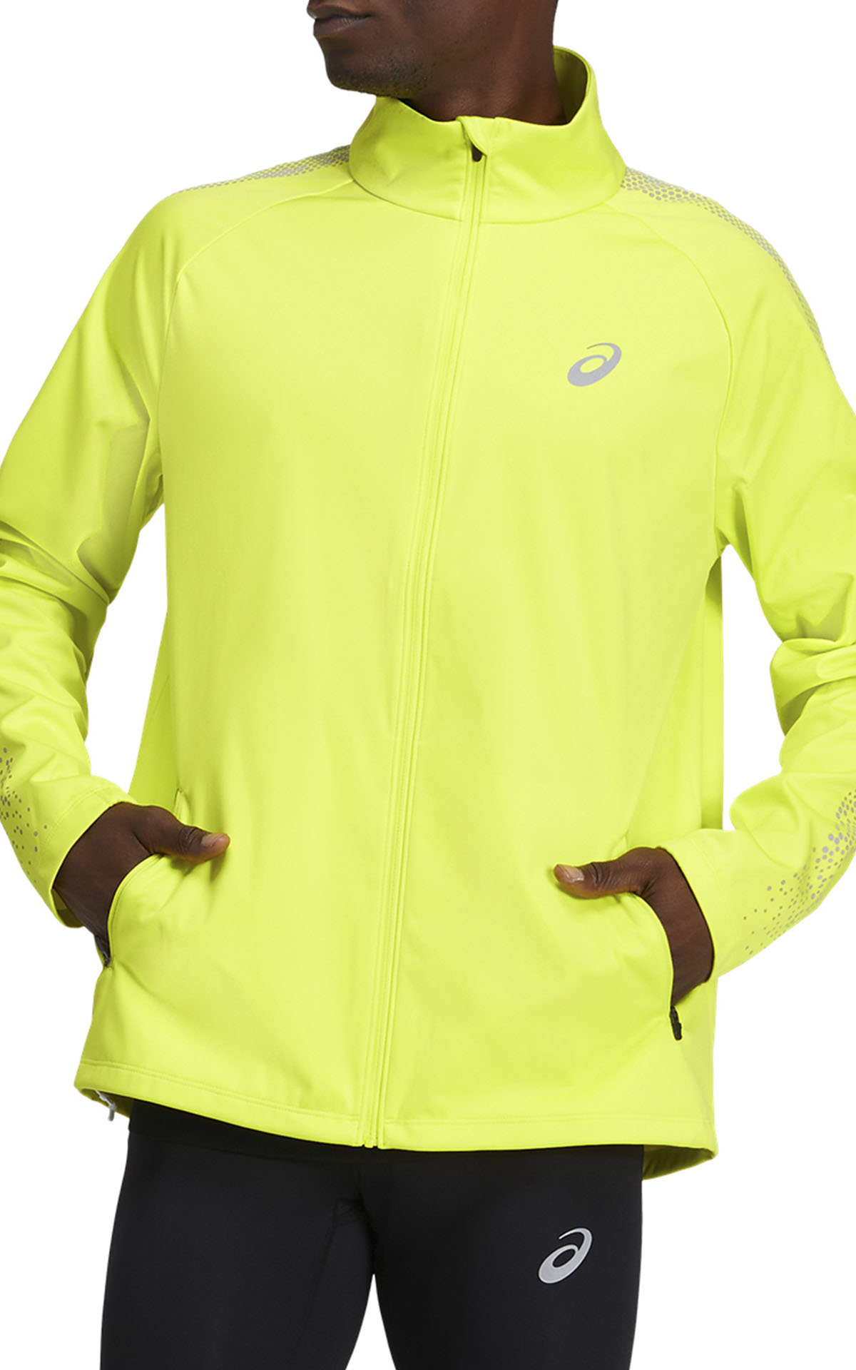 ASICS yellow running jacket