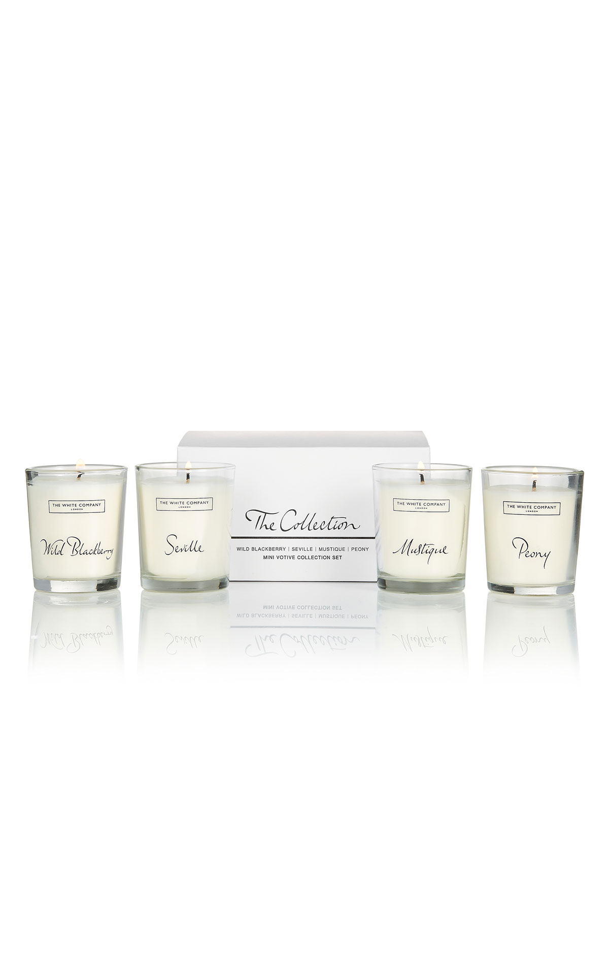 The White Company The collection votive set from Bicester Village