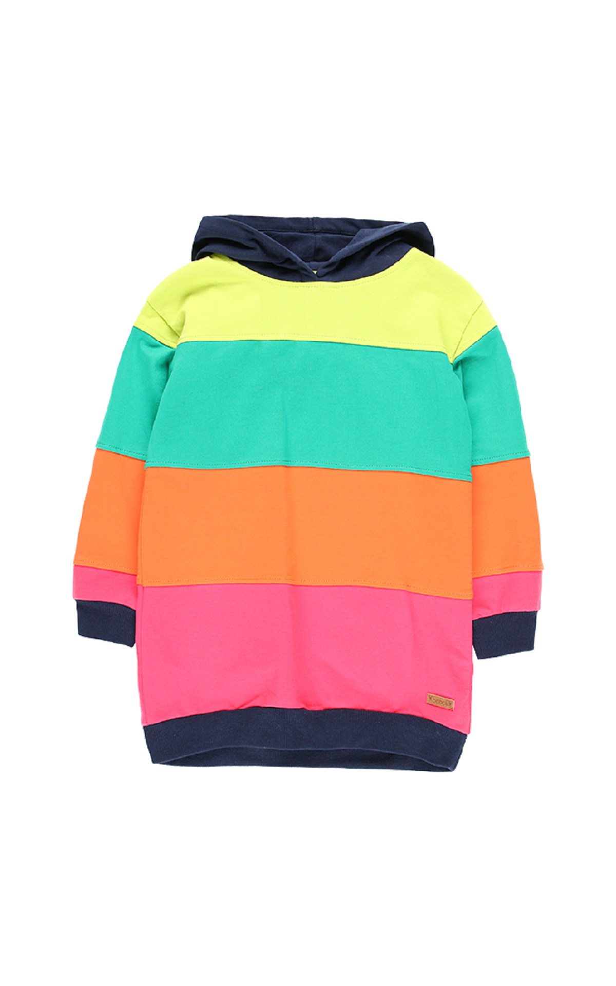 Colored striped hoodie boboli