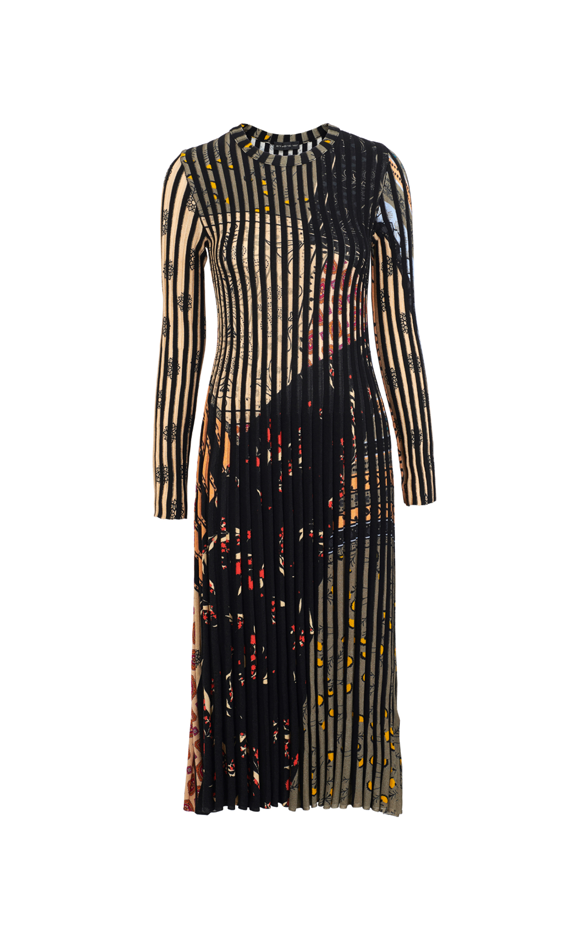 Black pleated dress Etro