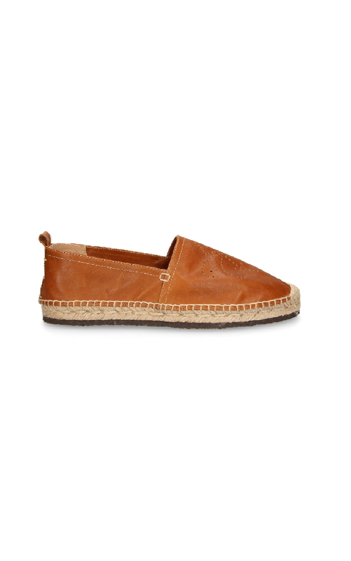 Brown leather espadrille Lottusse