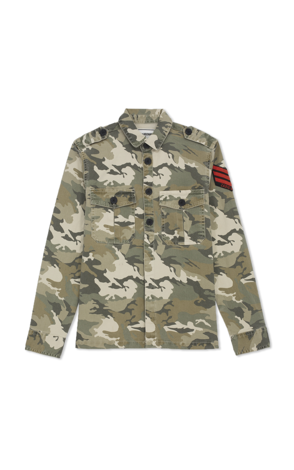 Zadig&Voltaire Kids Camouflage print shirt
