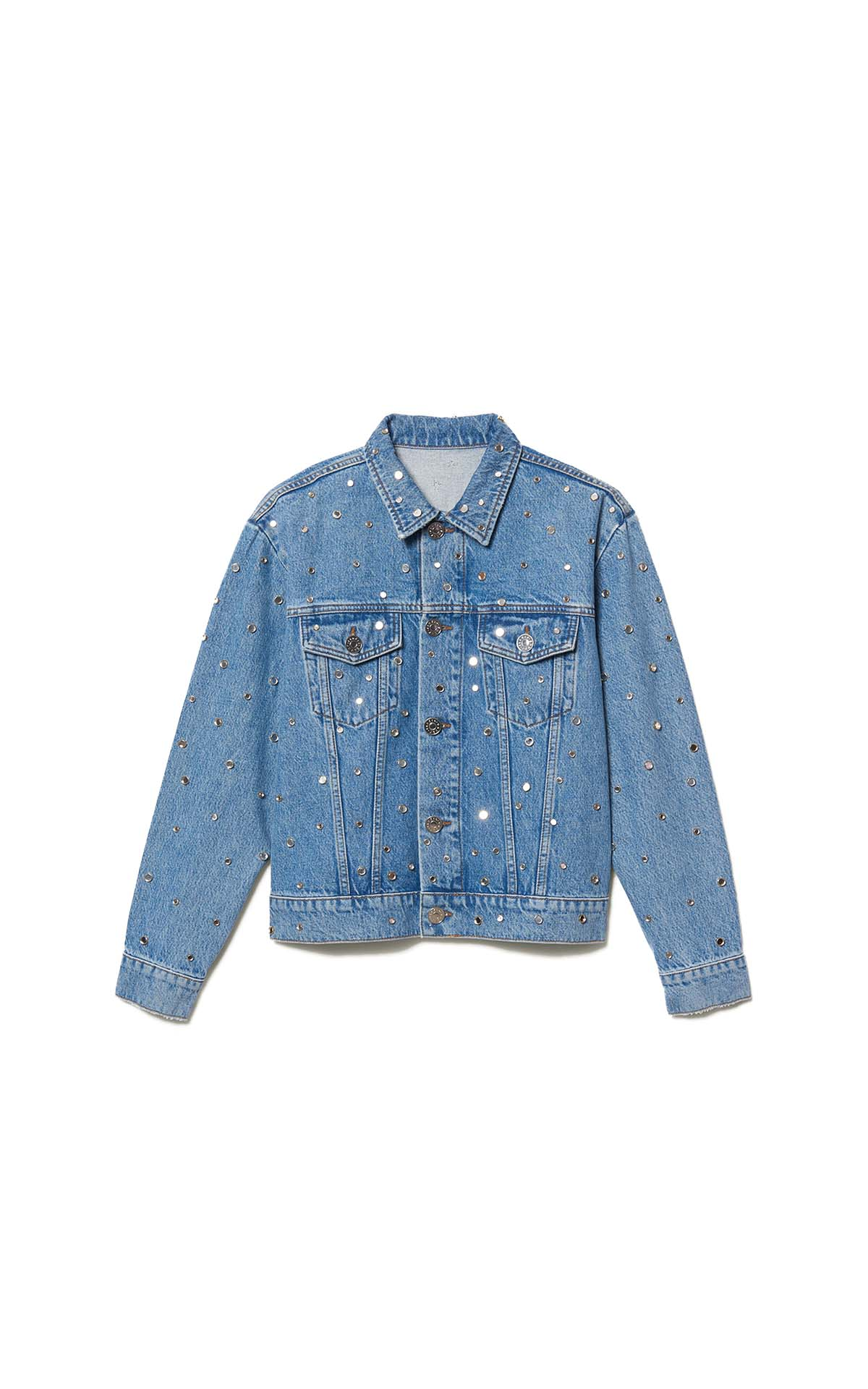 Sandro paris embellished denim jacket at The Bicester Village Shopping Collection
