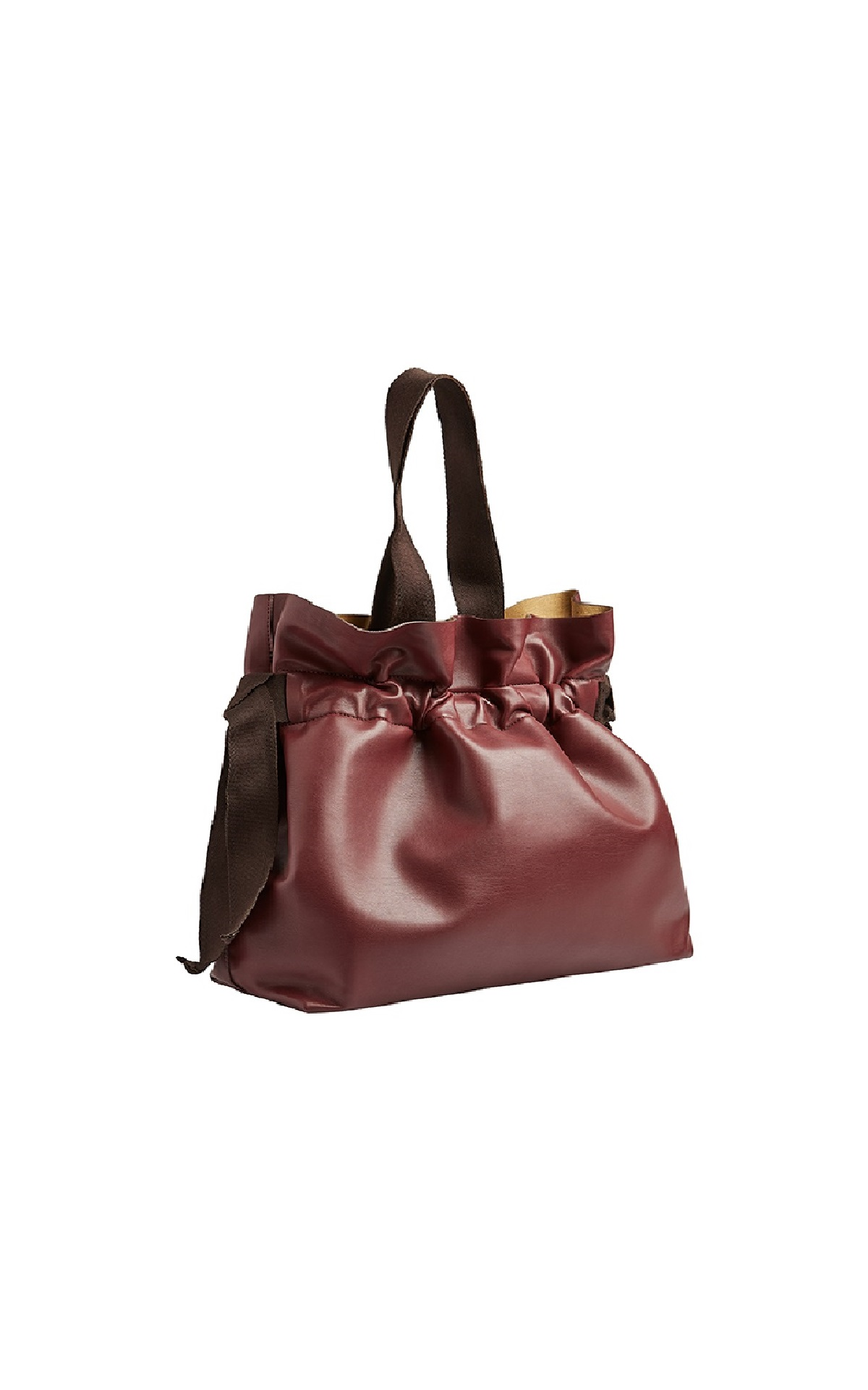 Burgundy leather bag Adolfo Dominguez