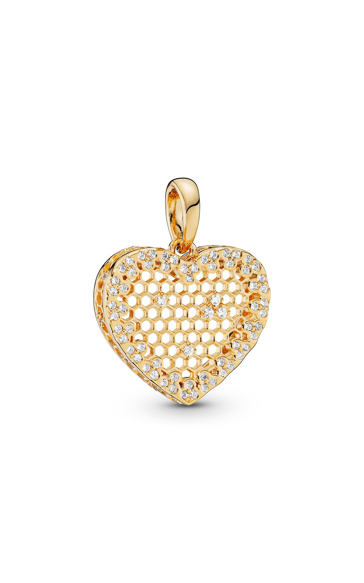Golden heart pendant Pandora