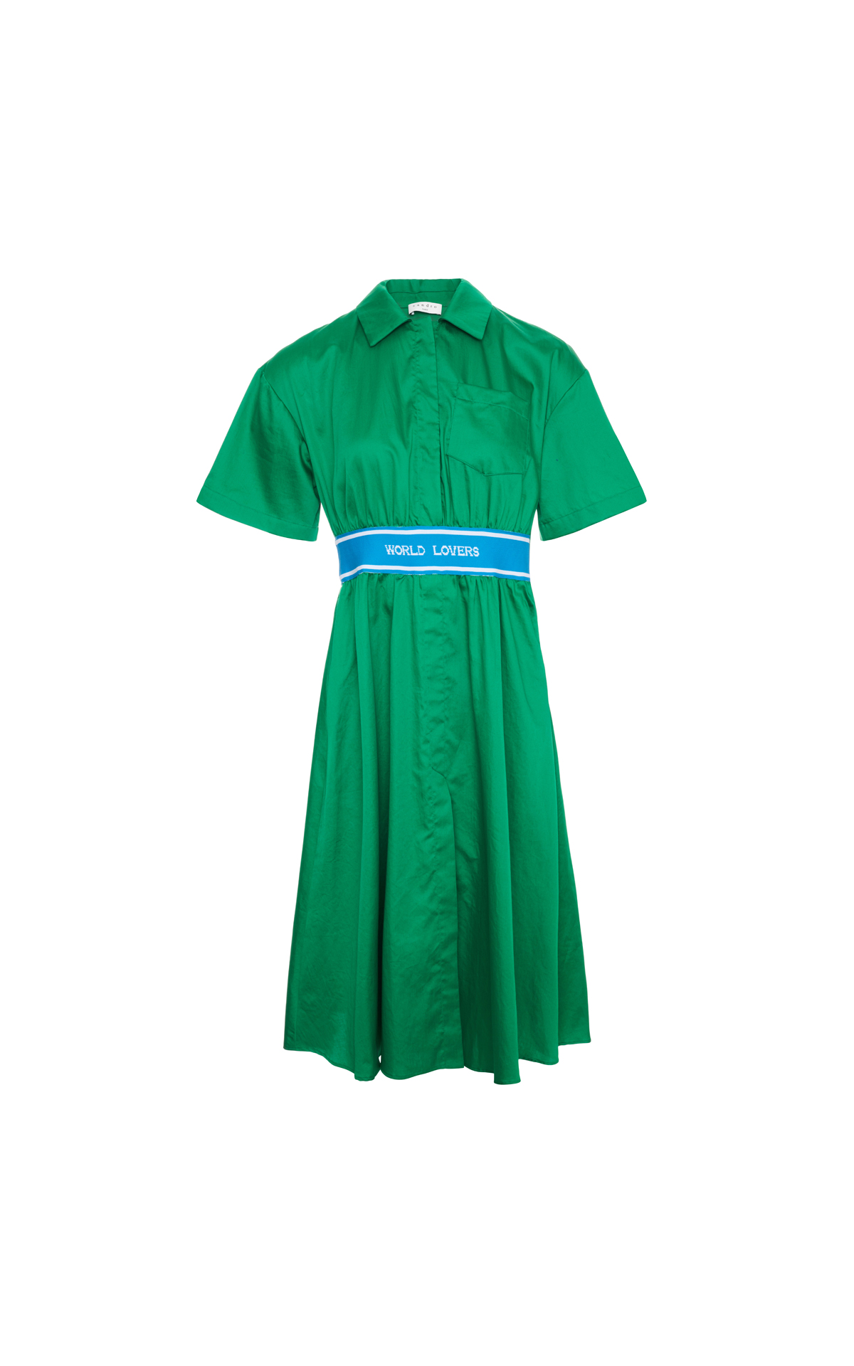Sandro Green world lovers dress from Bicester Village
