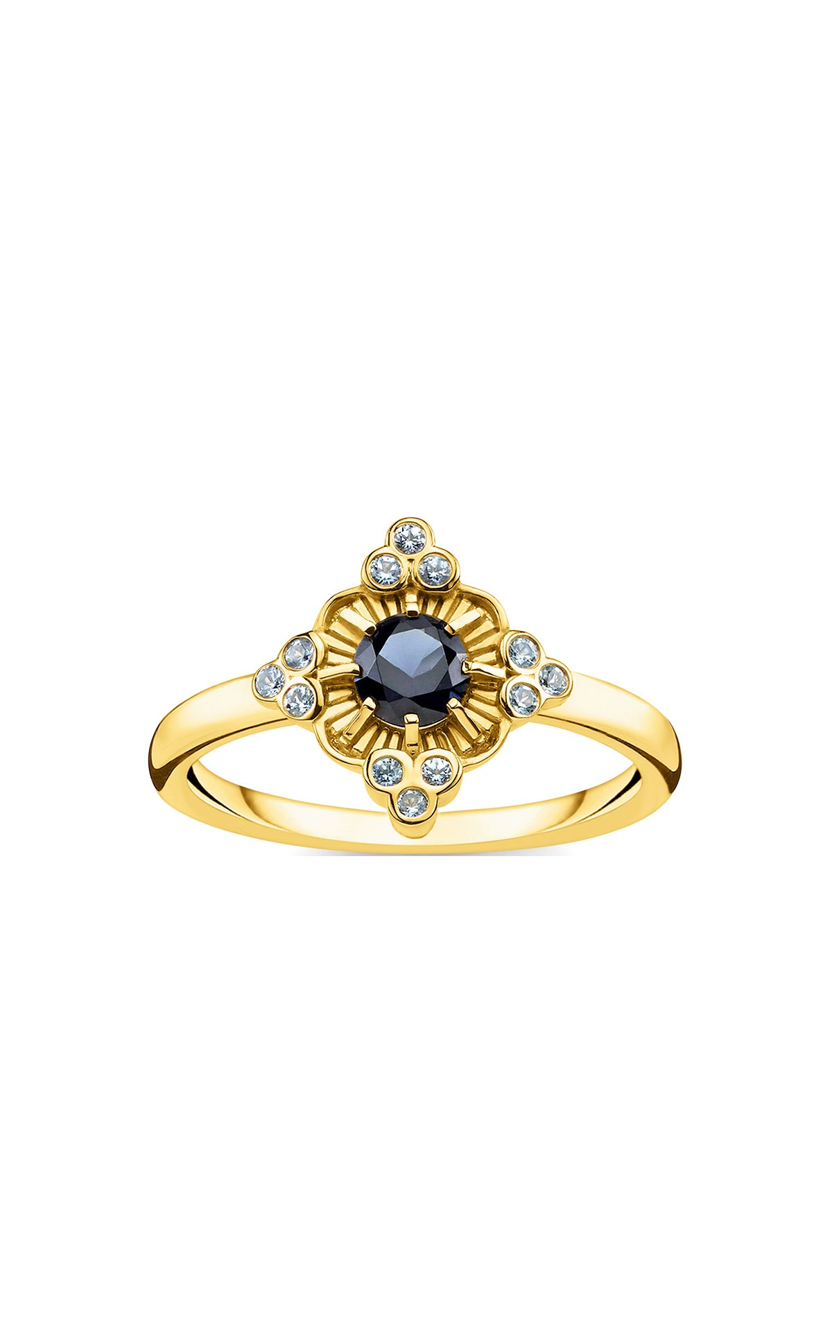 Gold ring with grey stonesThomas Sabo