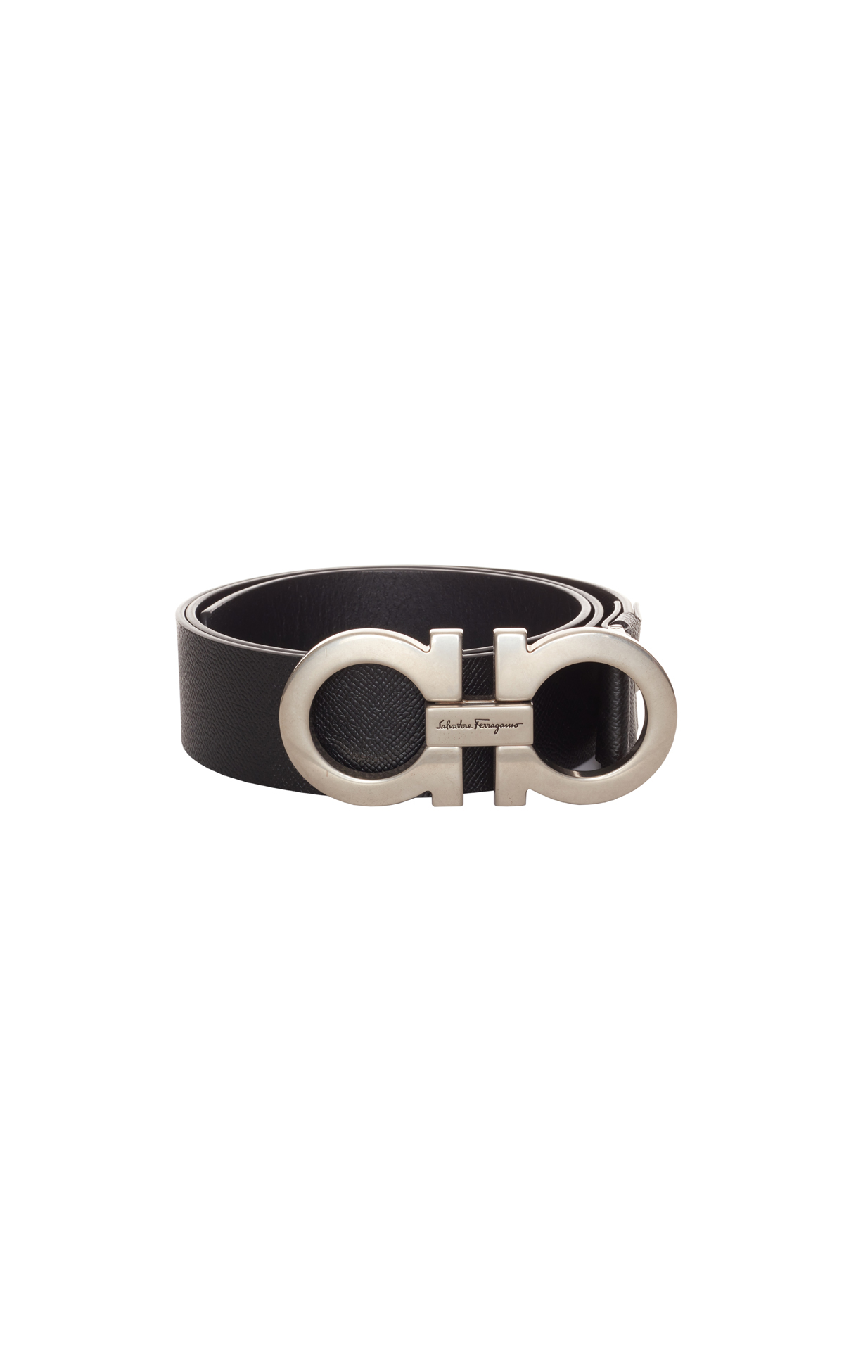 Salvatore Ferragamo Men's double gancio belt from Bicester Village