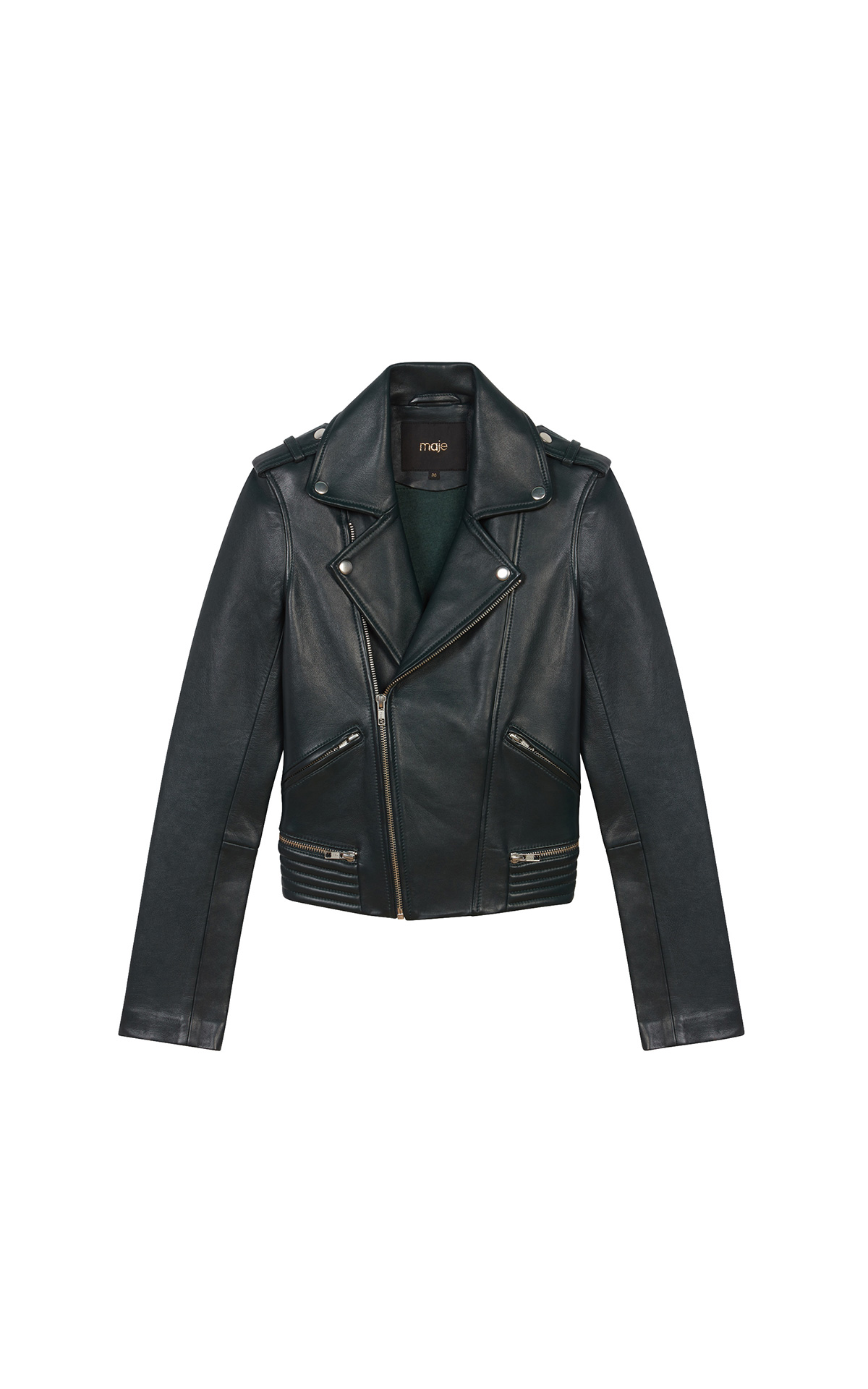 Maje Black Leather Jacket at The Bicester Village Shopping Collection