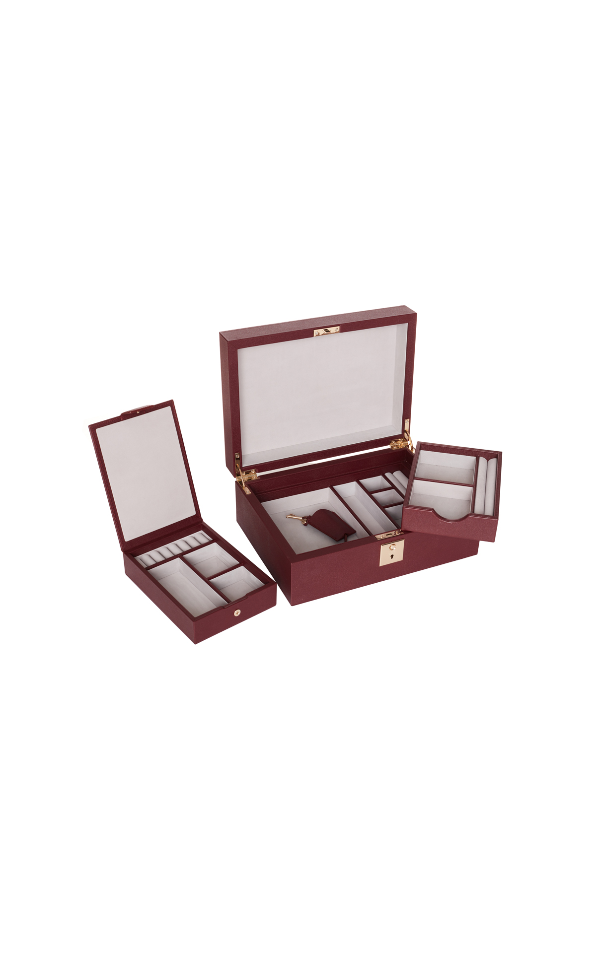 Smythson Jewellery box grov from Bicester Village