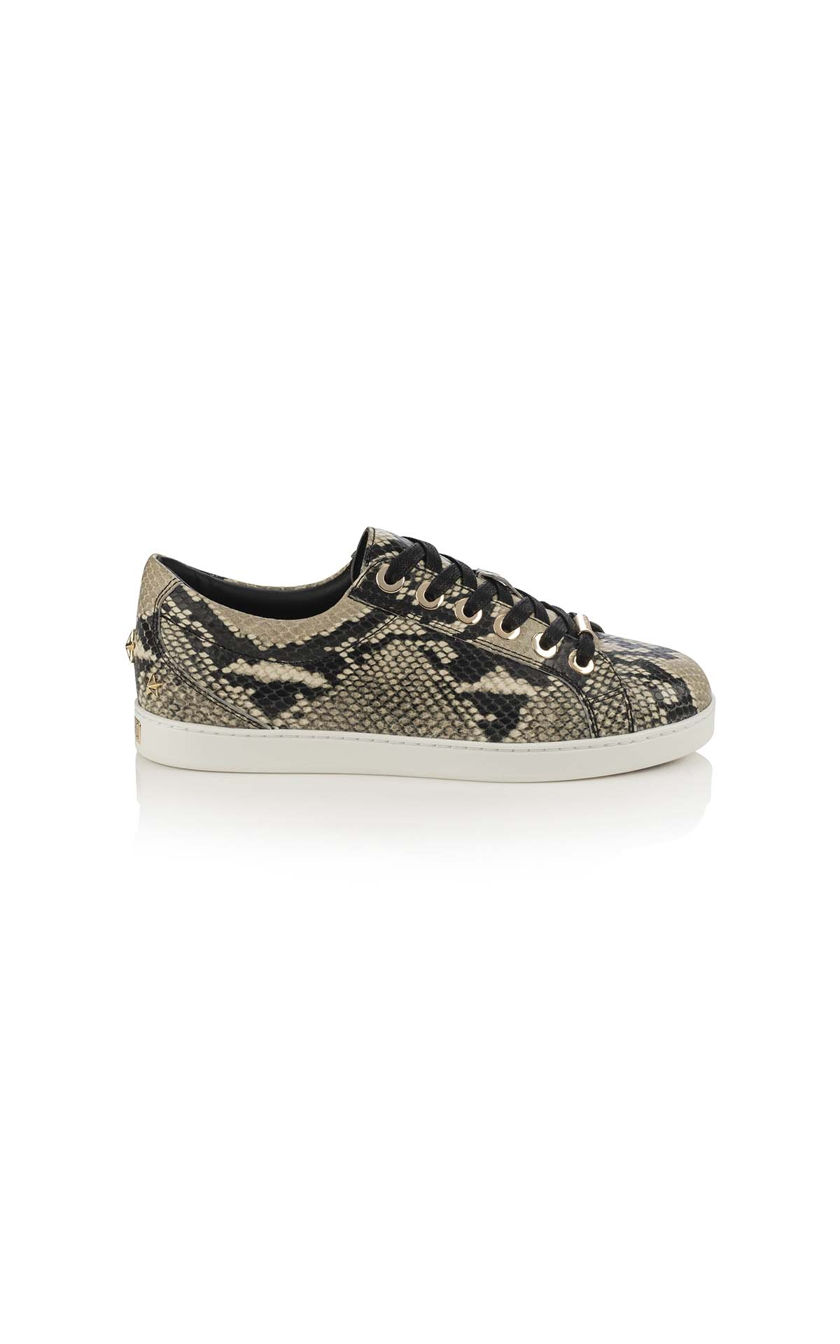 Jimmy Choo Cash F snake printed leather natural at The Bicester Village Shopping Collection