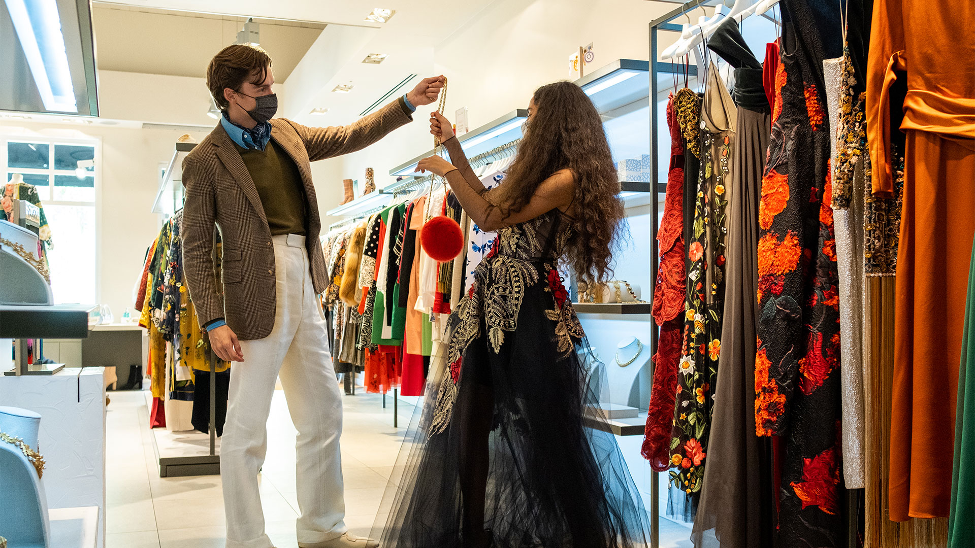 Mathias & Ciinderella in Oscar de la Renta at Bicester Village