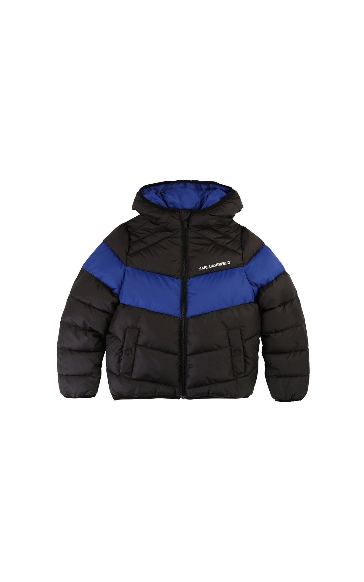Kids around karl lagerfeld blue and black puffer la vallée village