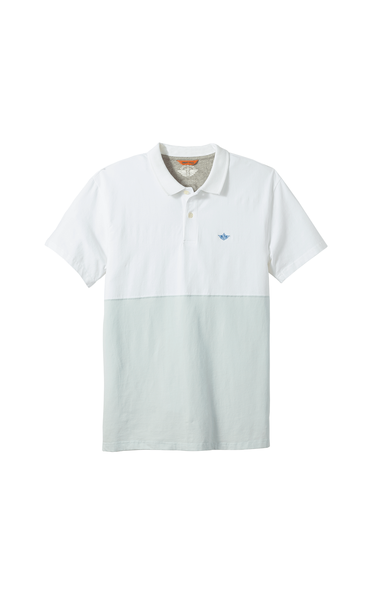 White and grey short sleeves polo shirt for man Dockers