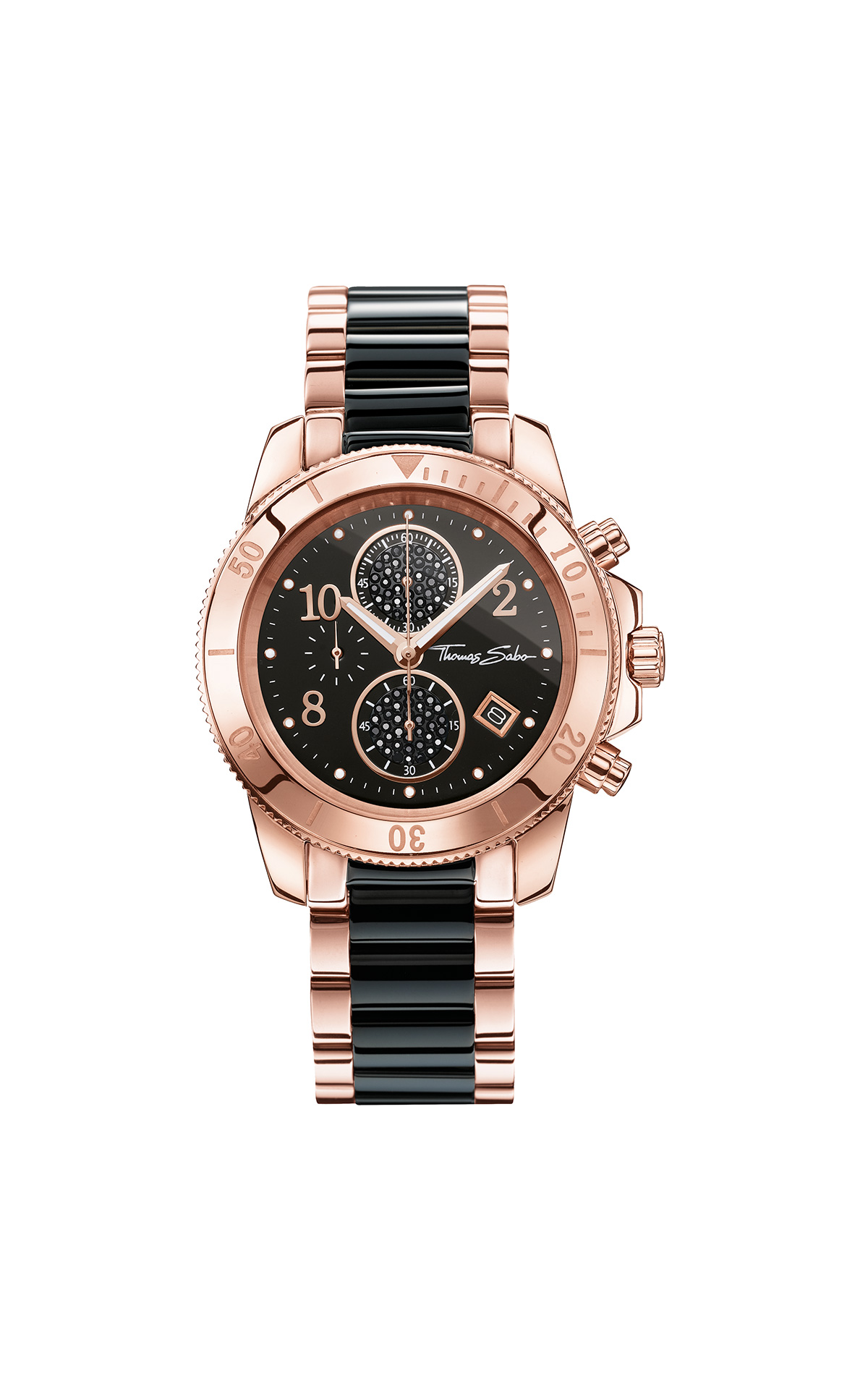 Black and pink watch Thomas Sabo