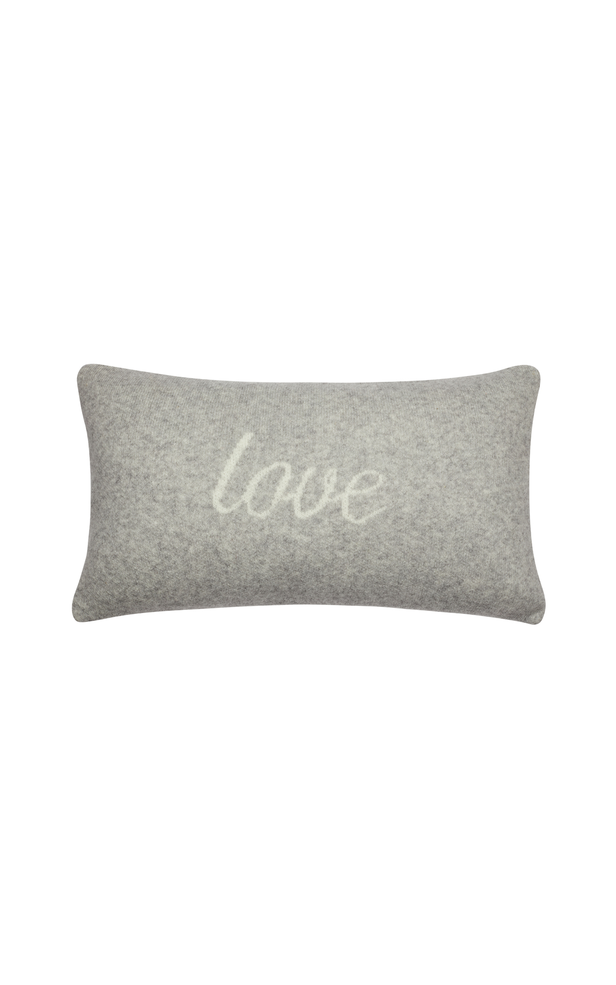 The White Company Knitted love cushion cover from Bicester Village