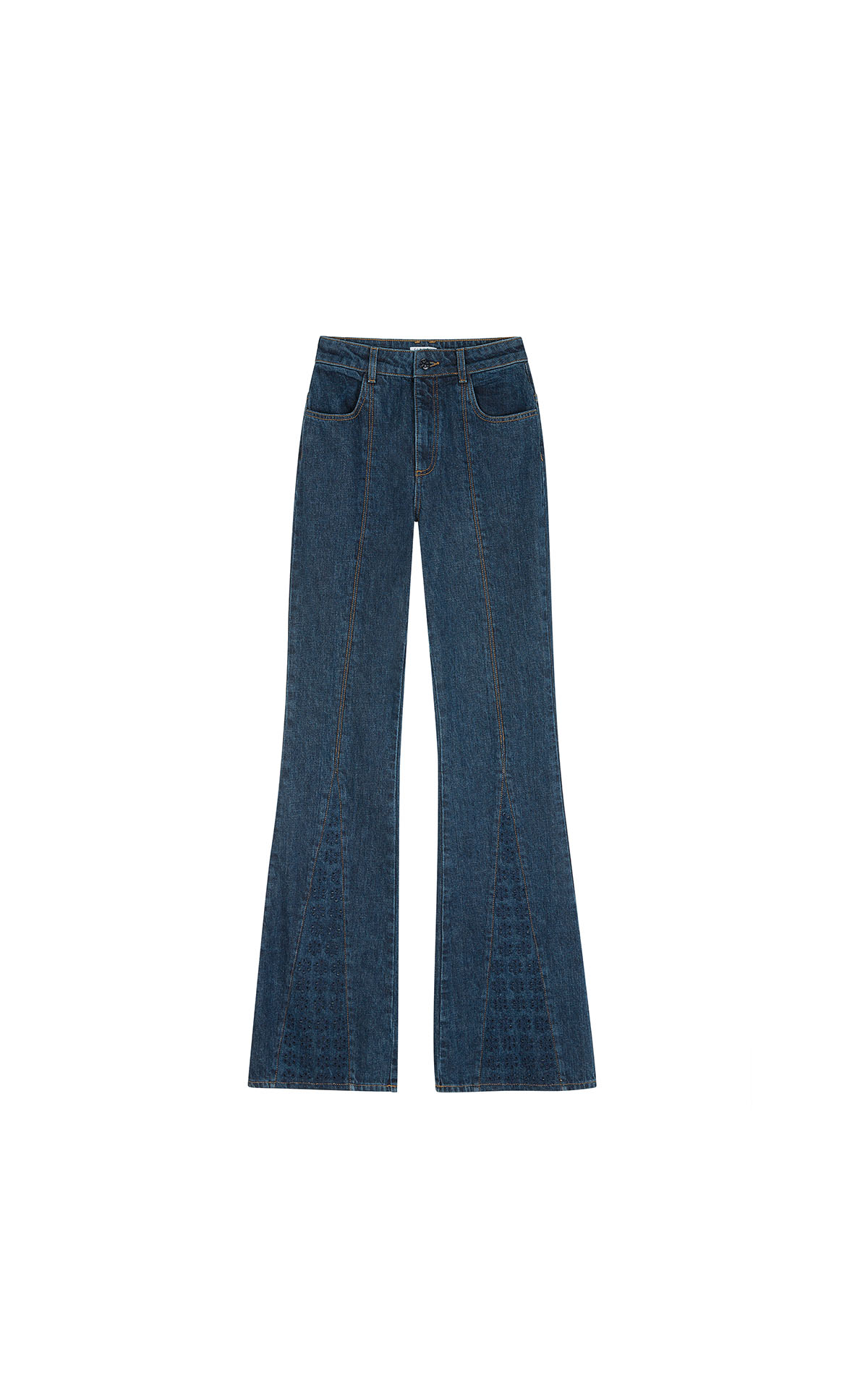 Claudie Pierlot jeans with embroidered legs at the bicester village shopping collection