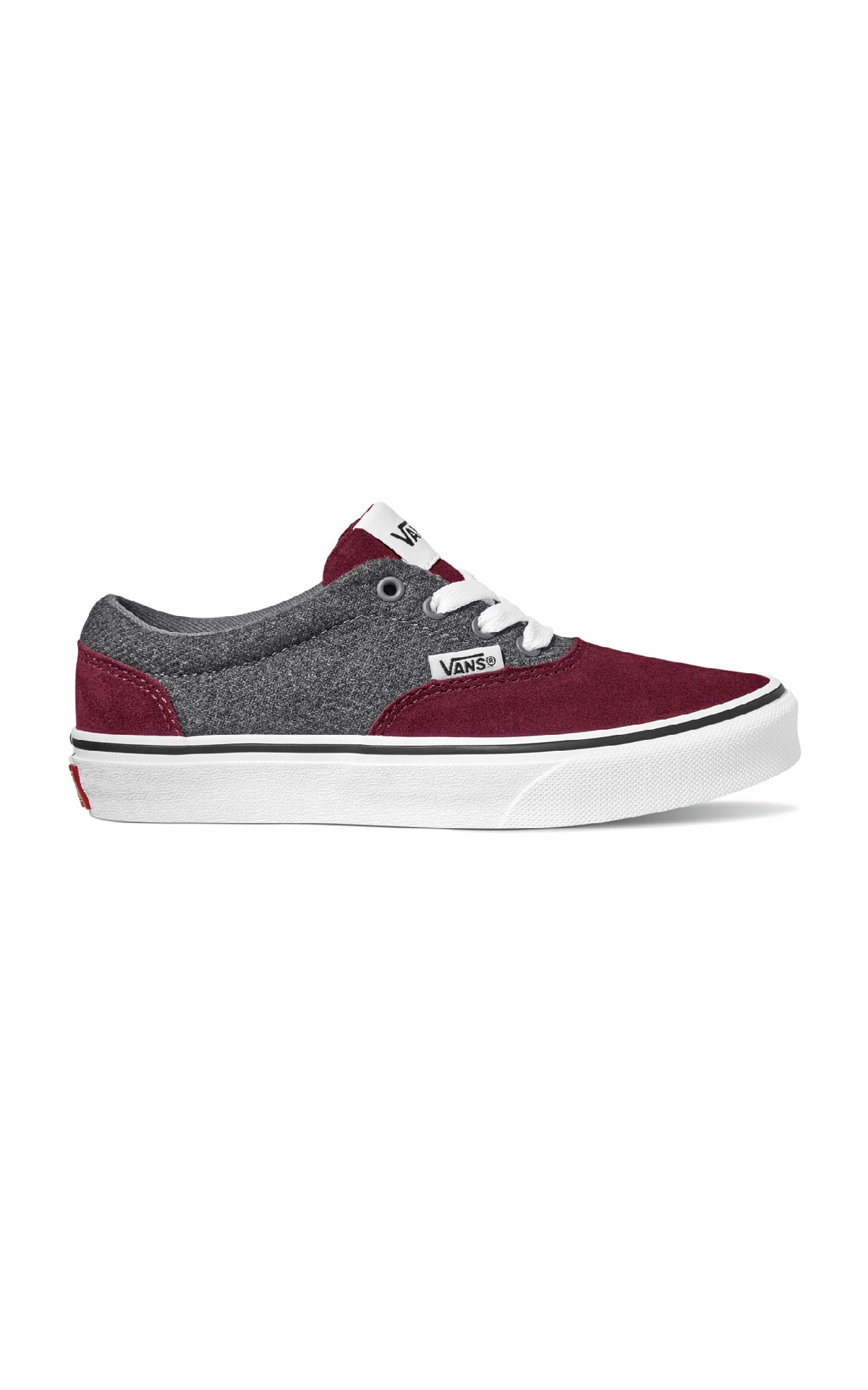 Grey and red sneakers Vans