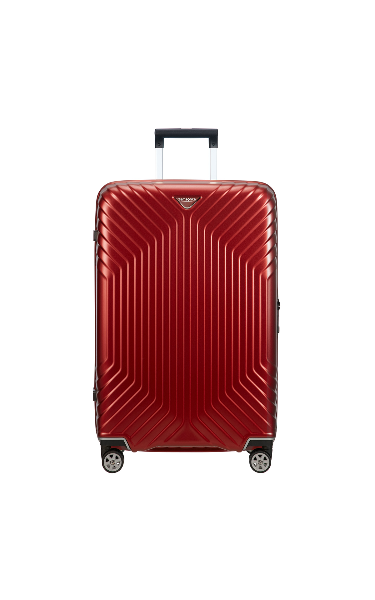 Samsonite red suitcase