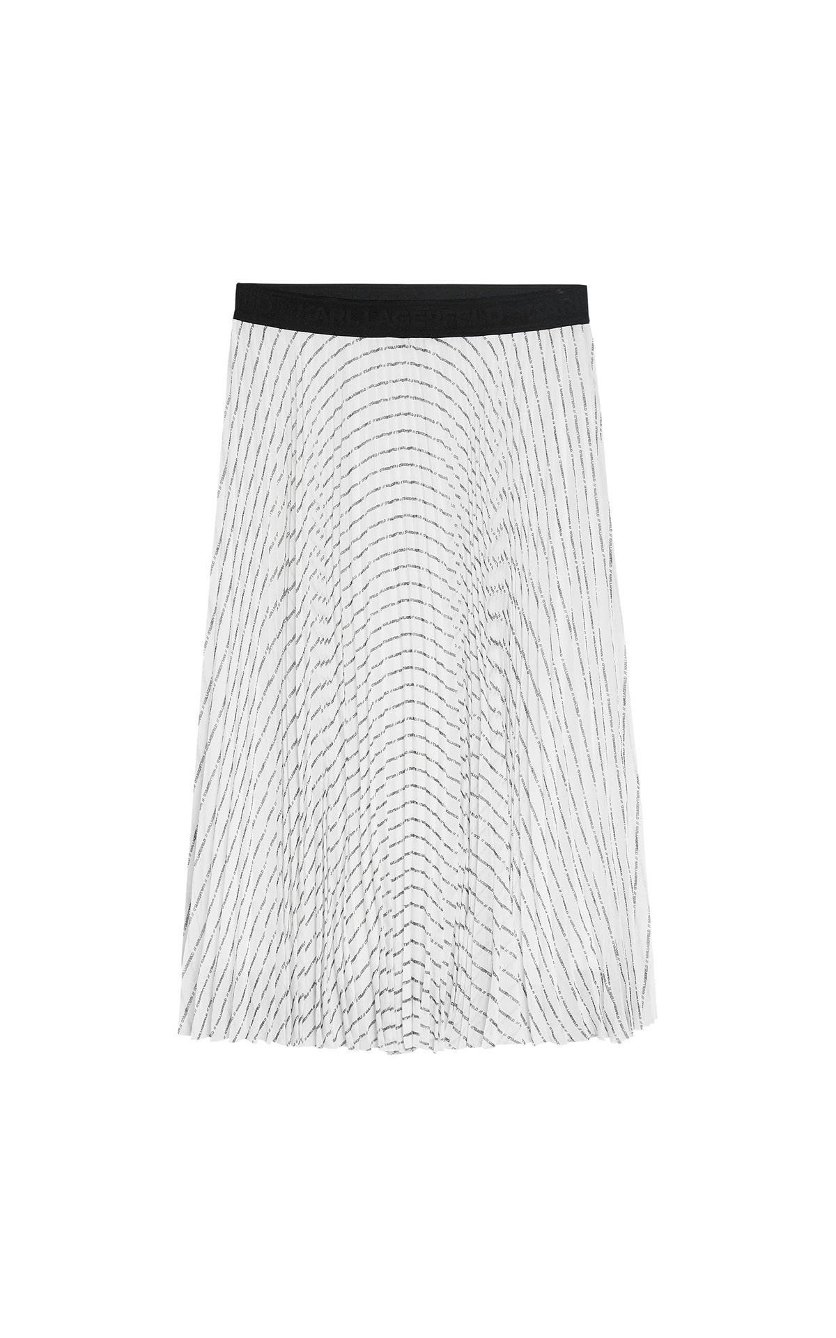 Karl Lagerfield Logo Pleated Skirt at The Bicester Village Shopping Collection