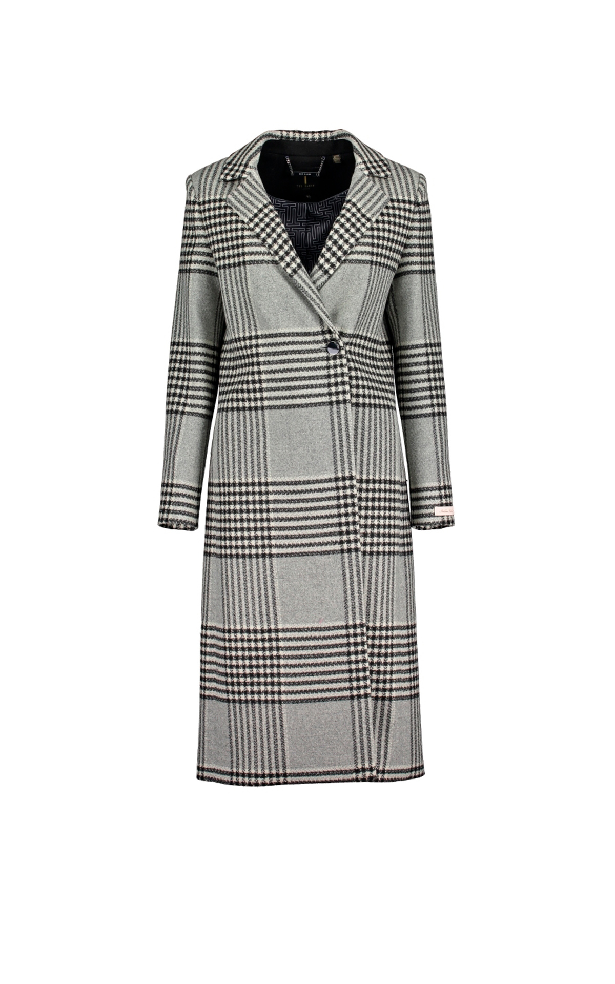 Grey cheked coat Ted Baker