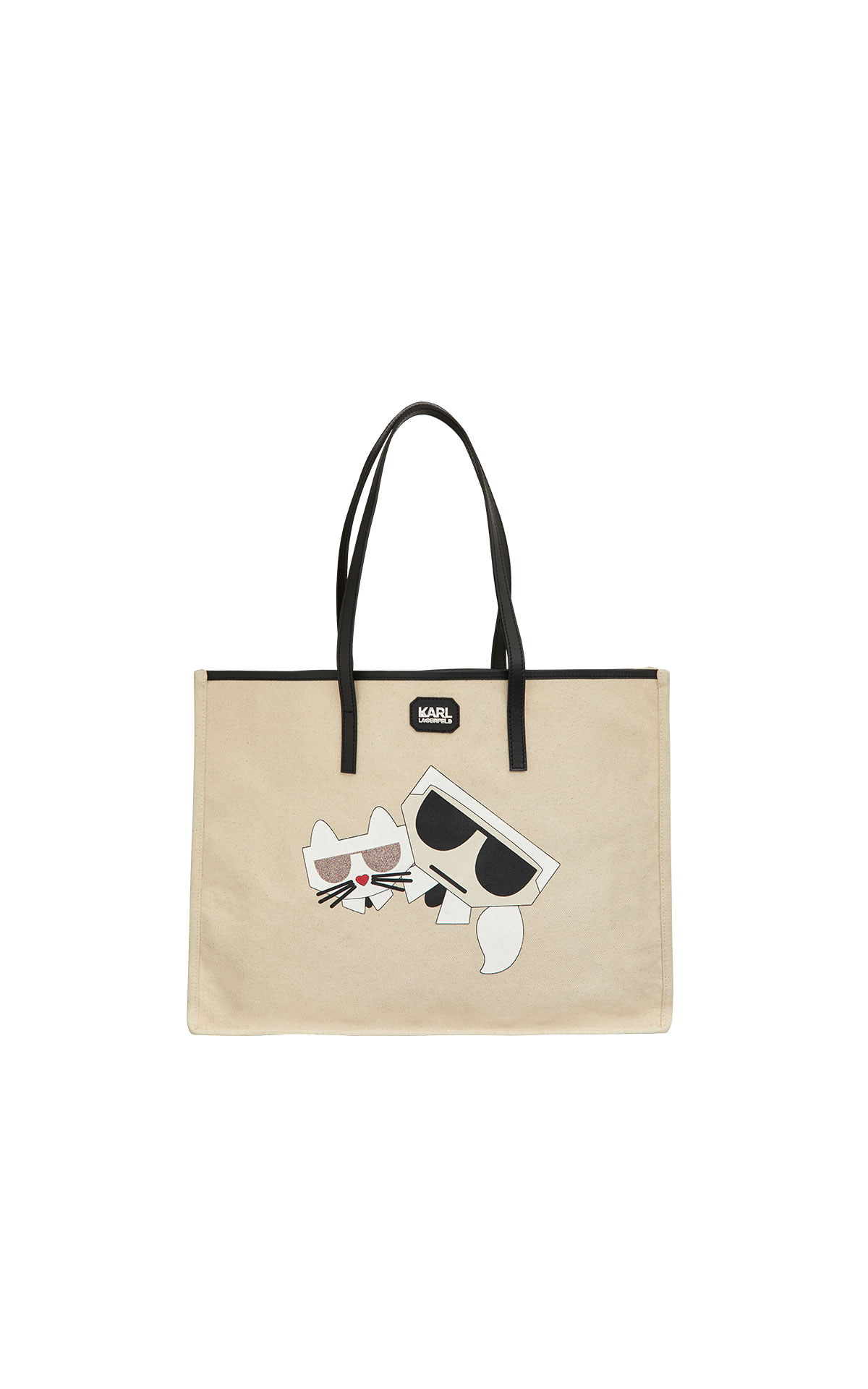 Karl Lagerfeld kocktail couple canvas bag at The Bicester Village Shopping Collection
