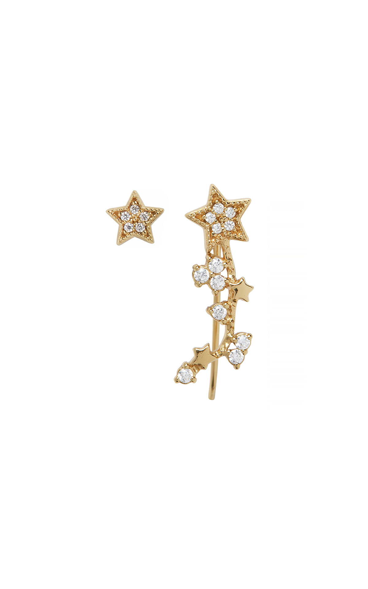 Olivia Burton Celestial crawler and stud gold earrings from Bicester Village
