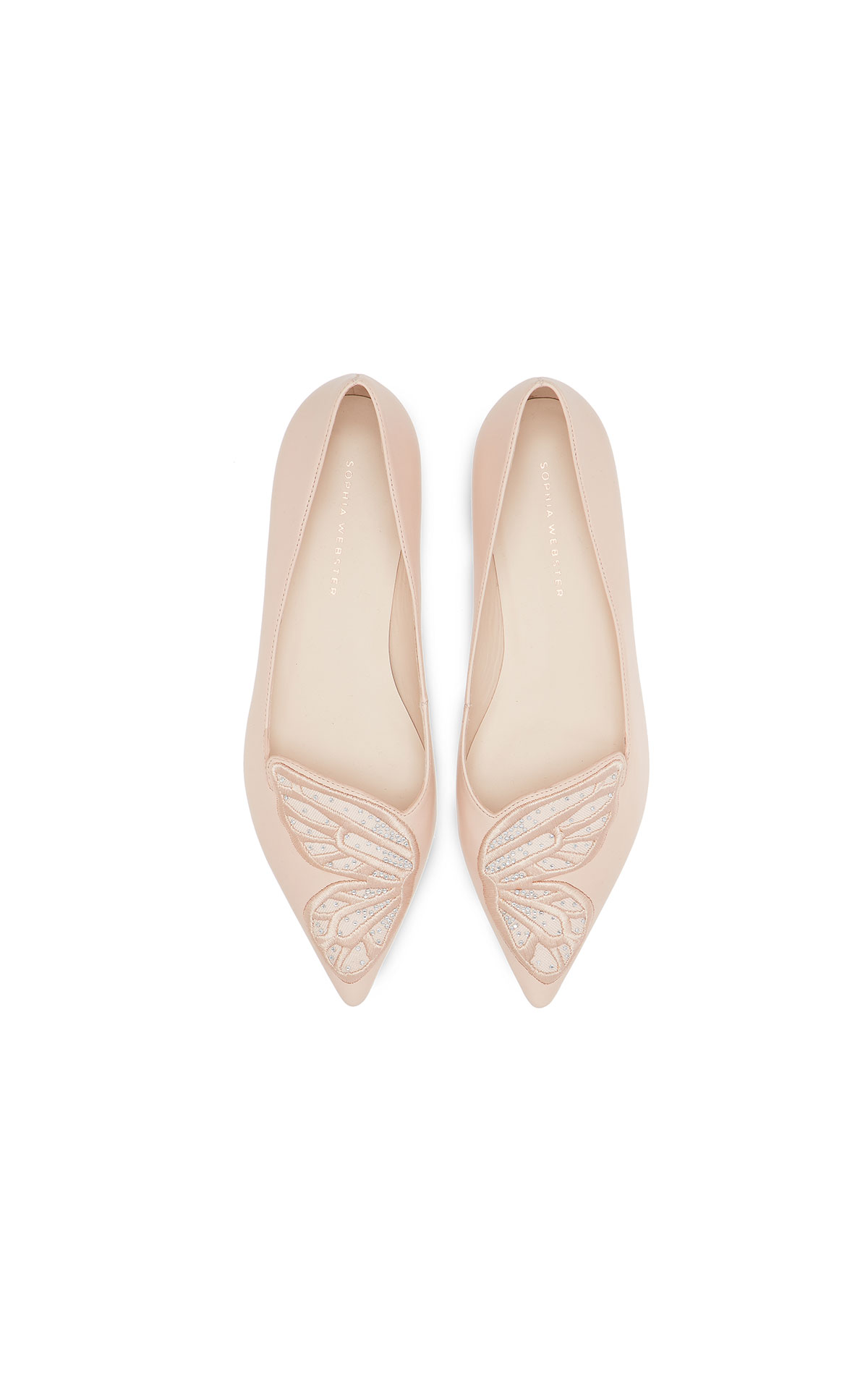 Barefoot Chic Sophia Webster Butterfly mesh flat from Bicester Village