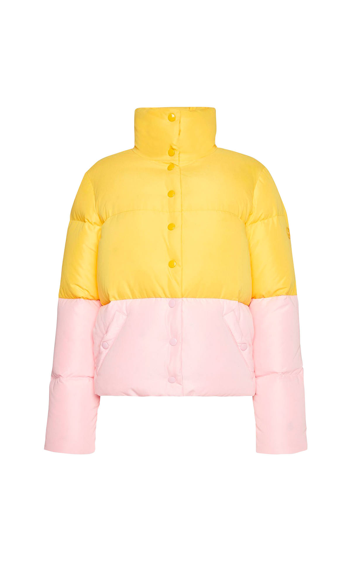 Pink and yellow puffer jacket Escada