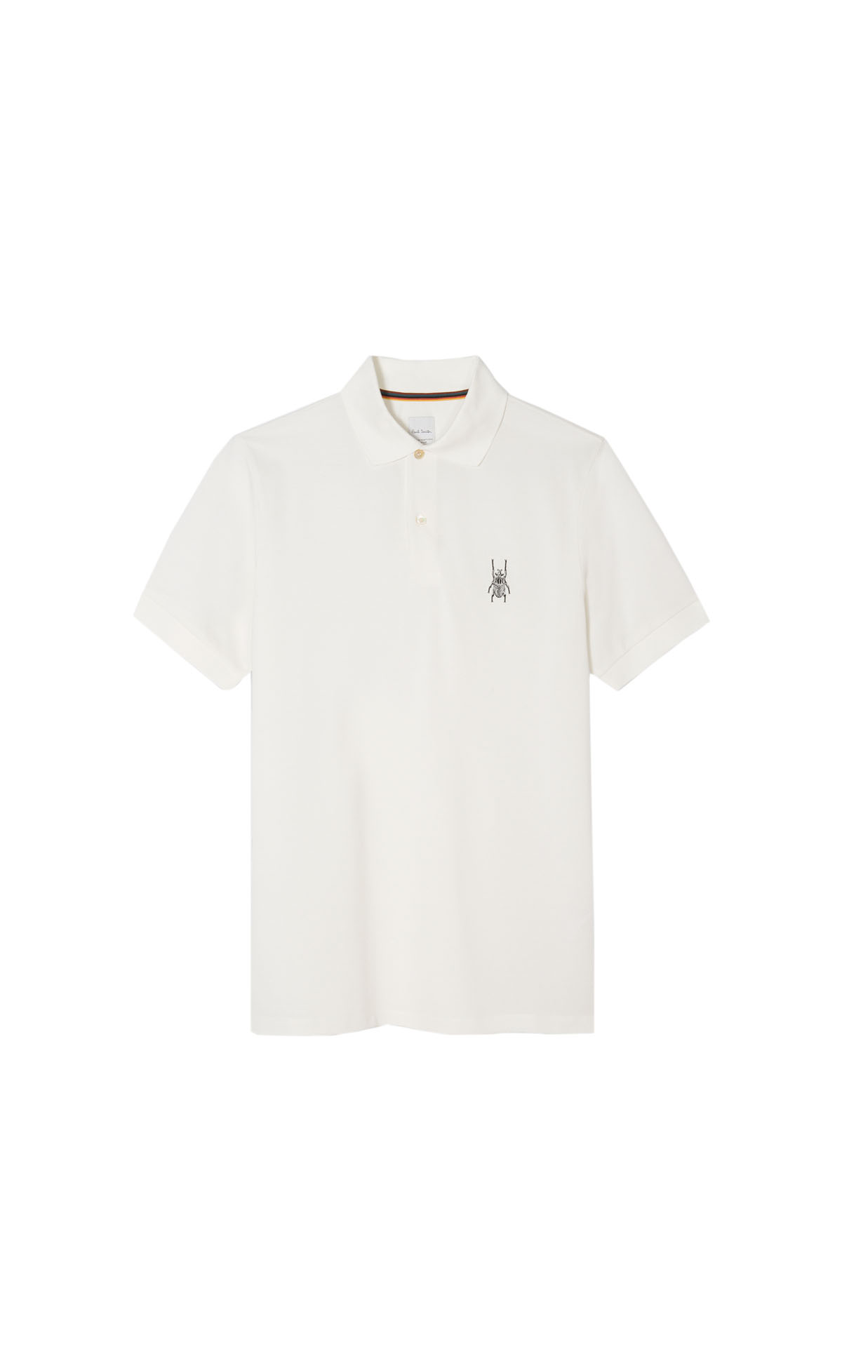 Paul Smith men's white 'goliath beetle' polo shirt at The Bicester Village Shopping Collection
