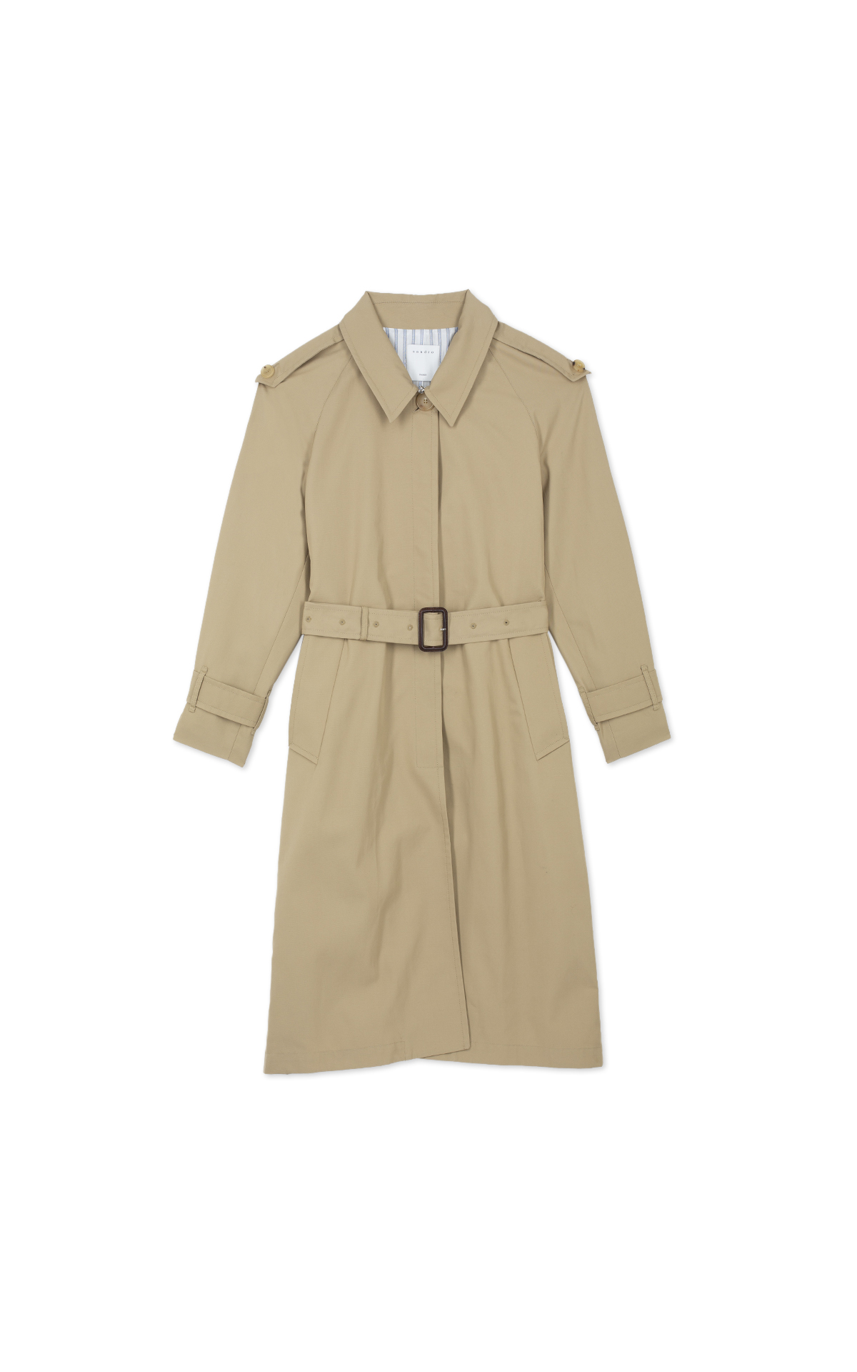 Sandro Women's beige trench coat