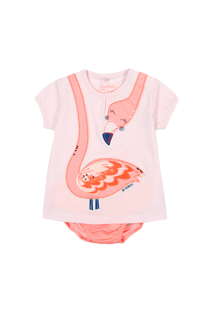 Orange body with a flamingo for baby Bóboli