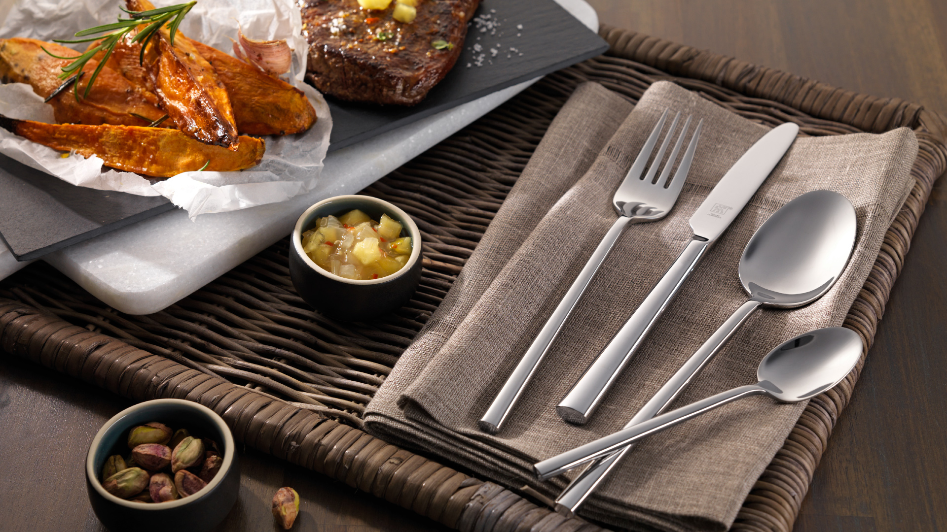 Sweet potato and Zwilling cutlery