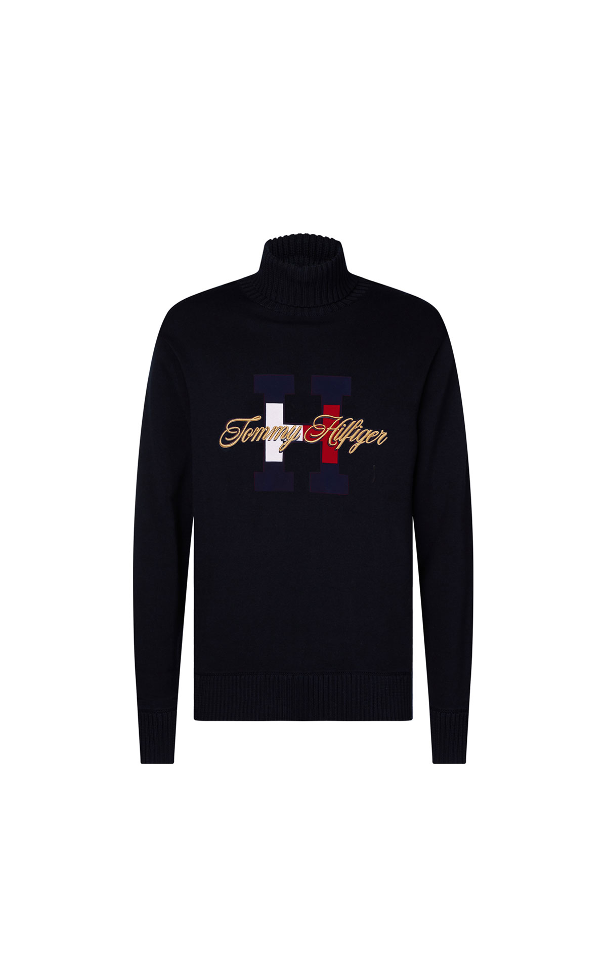 Tommy Hilfiger Men's Hilfiger H-Flag Roll Neck at The Bicester Village Shopping Collection