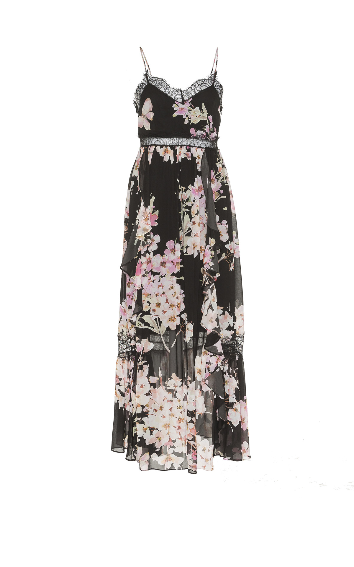 Long flowered dress TwinSet