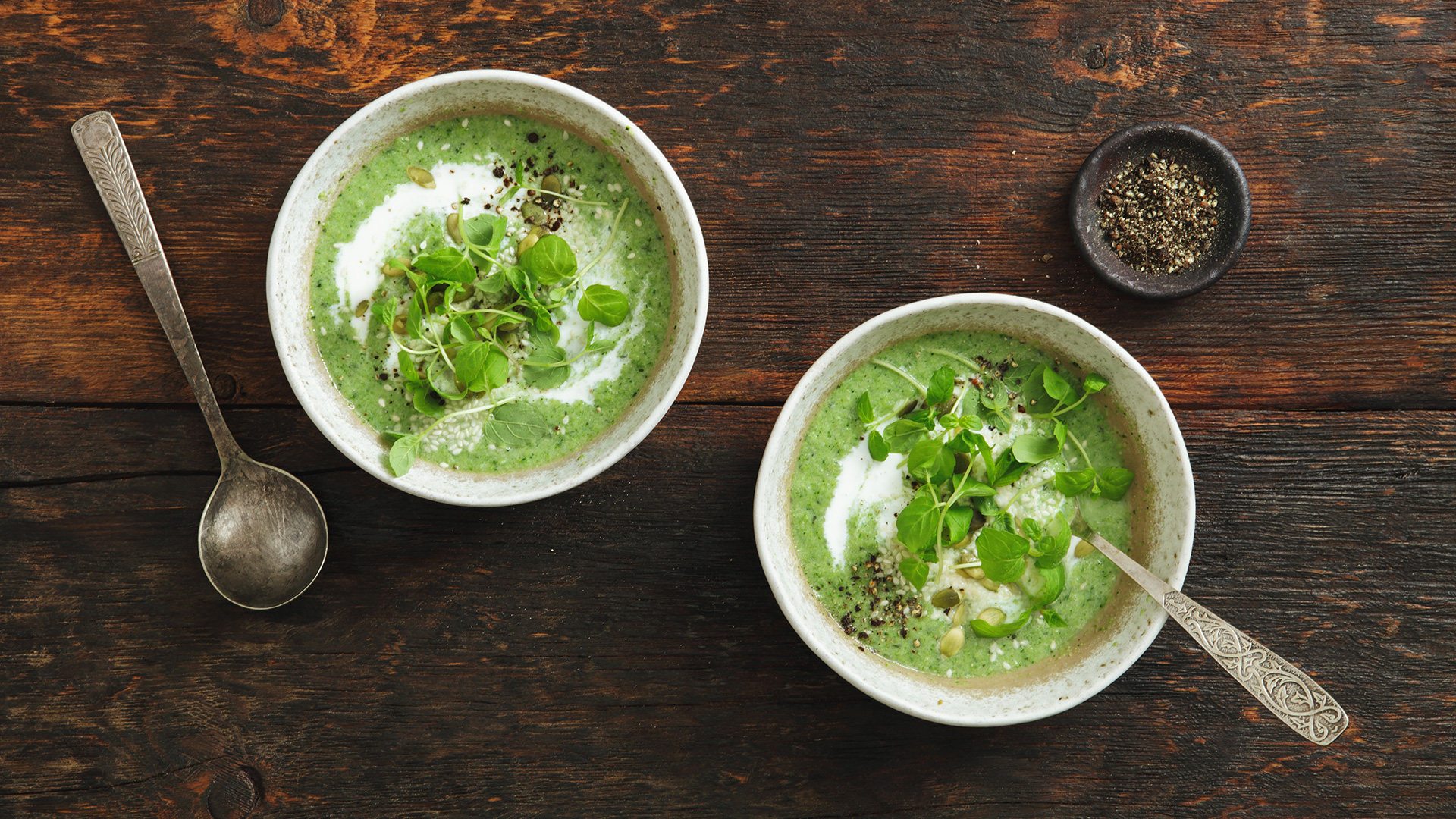Green goddess soup recipe from Rosemary Ferguson for The Bicester Village Shopping Collection