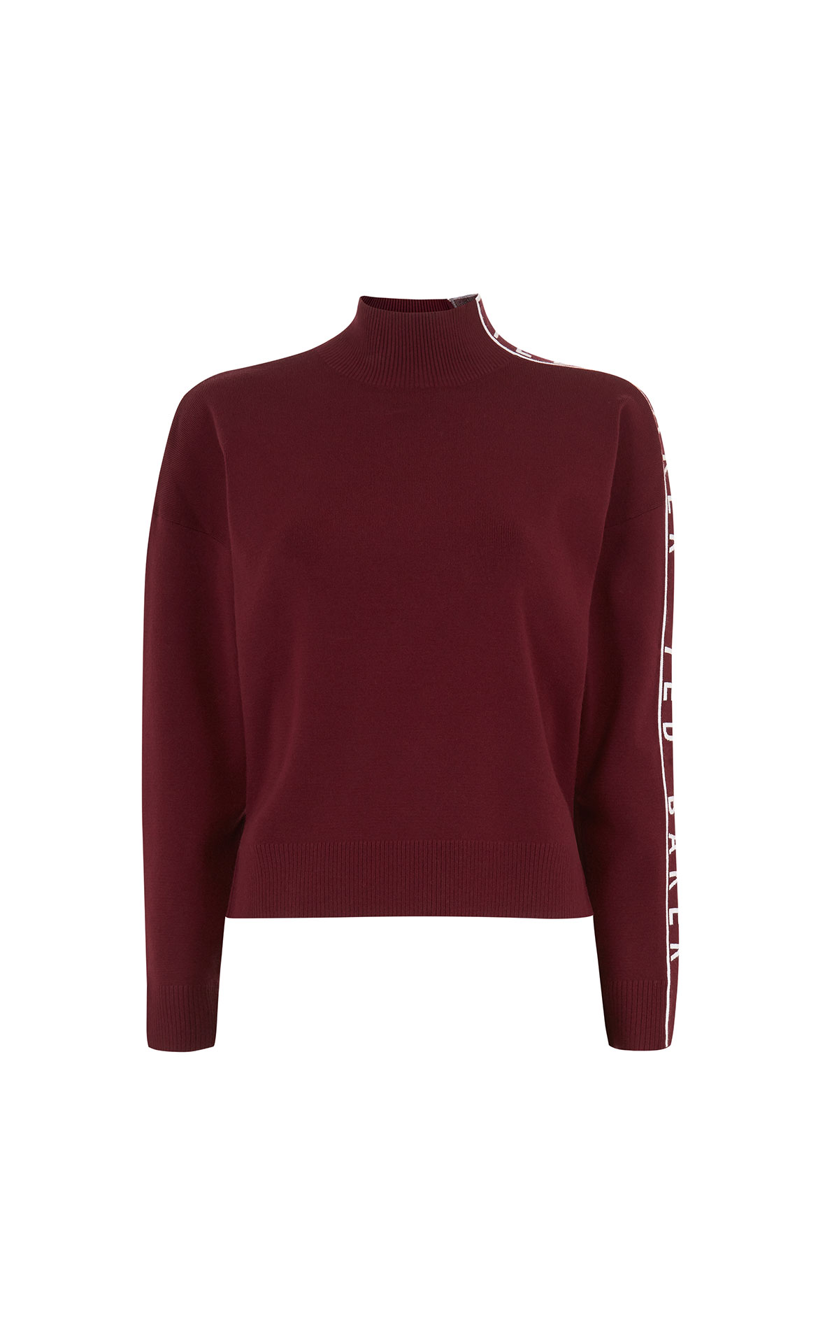 Ted Baker Yseena purple branded polo jumper from Bicester Village
