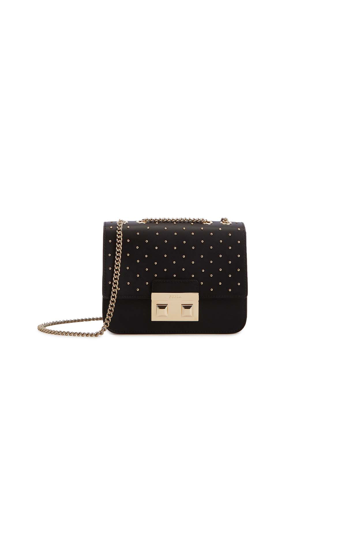 Furla Bella mini crossbody bag with studs at The Bicester Village Shopping Collection