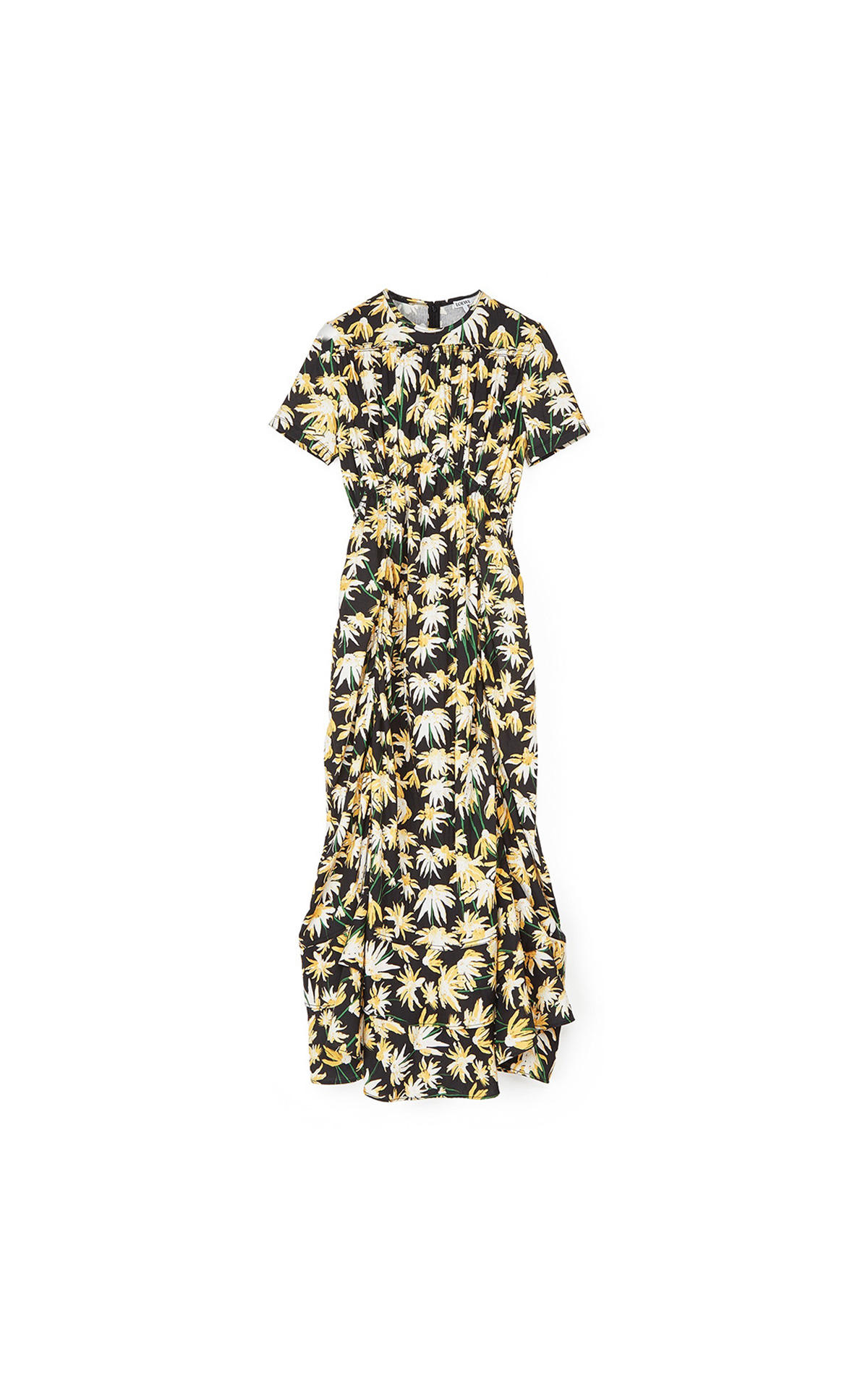 Loewe Women's Daisy ruffle gathered dress at The Bicester Village Shopping Collection