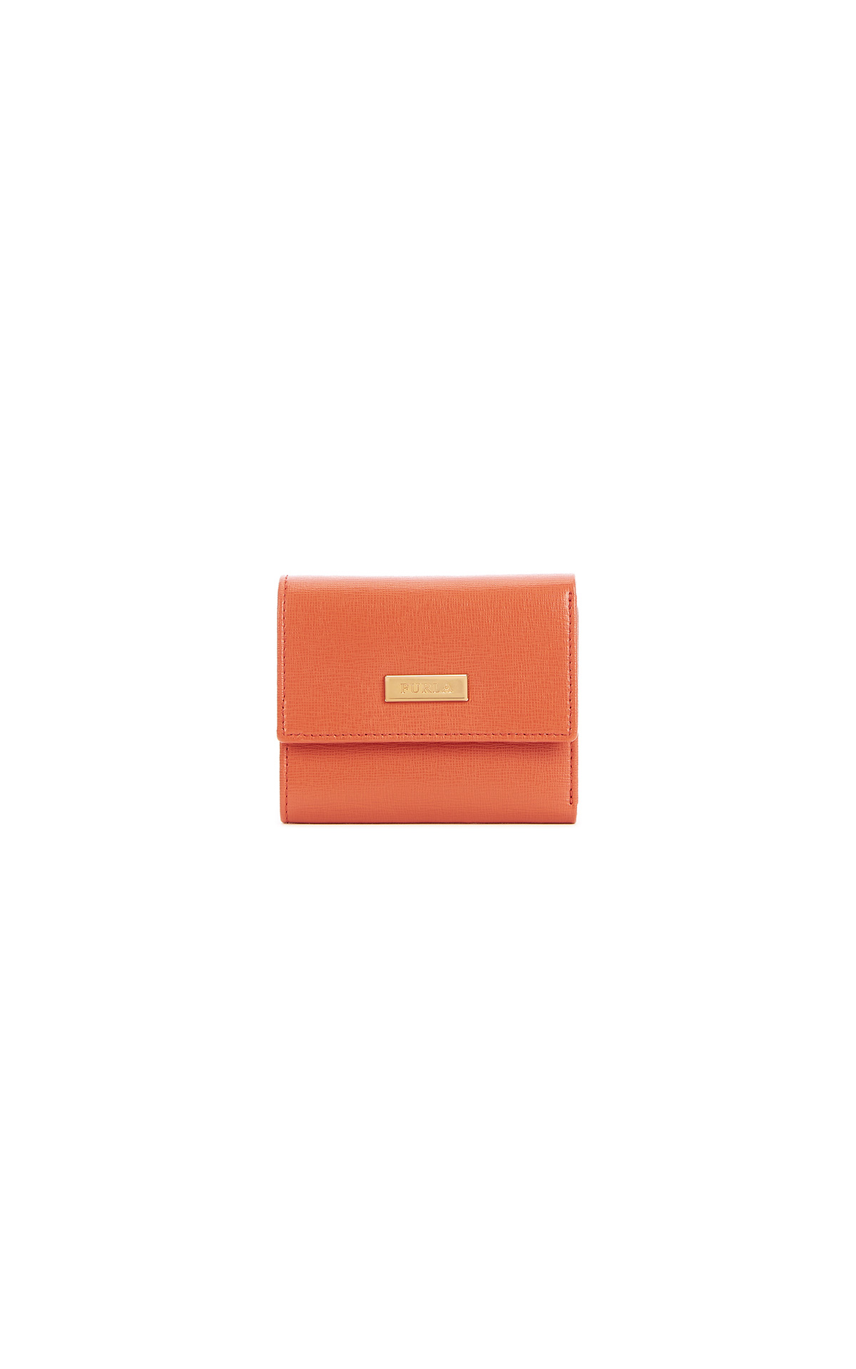 Orange leather wallet Furla