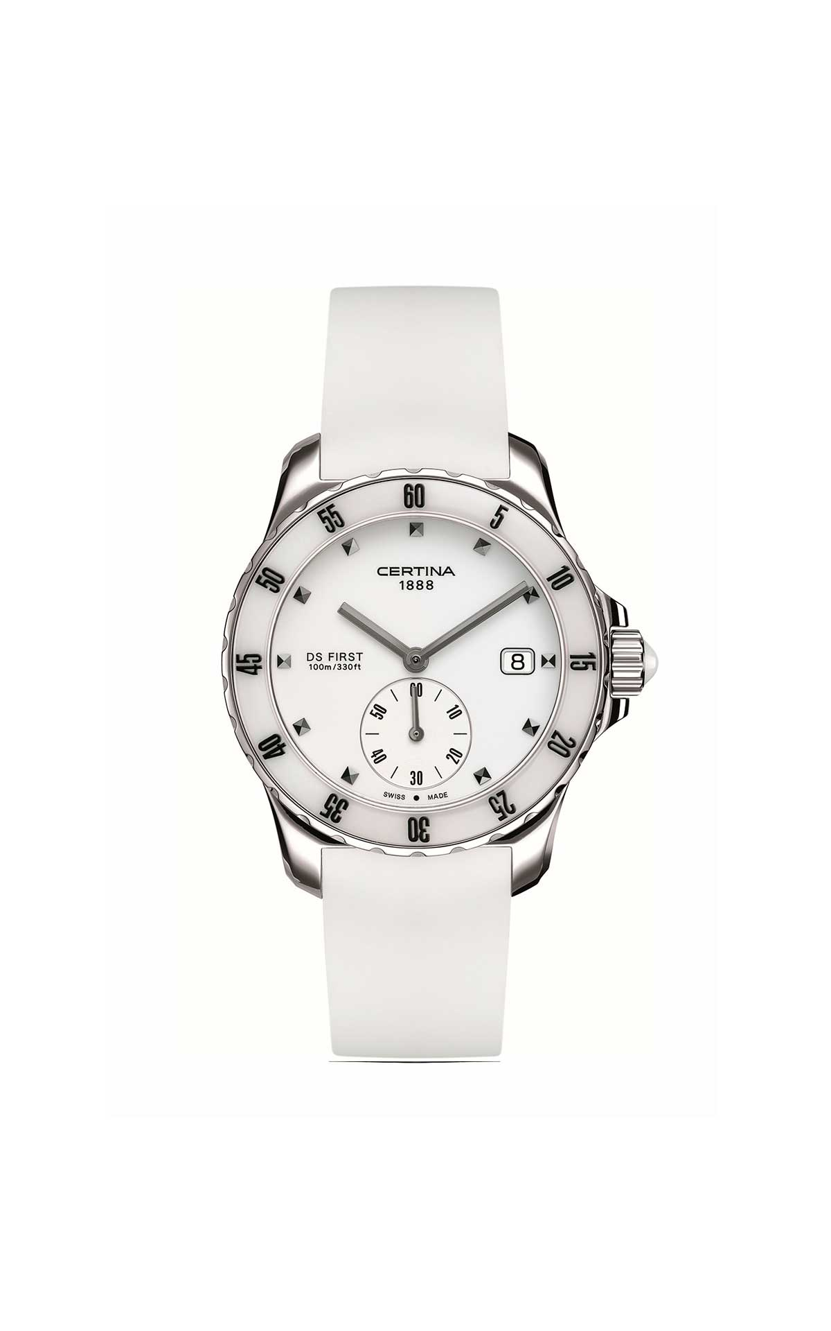 White and silver Certina watch Hour Passion