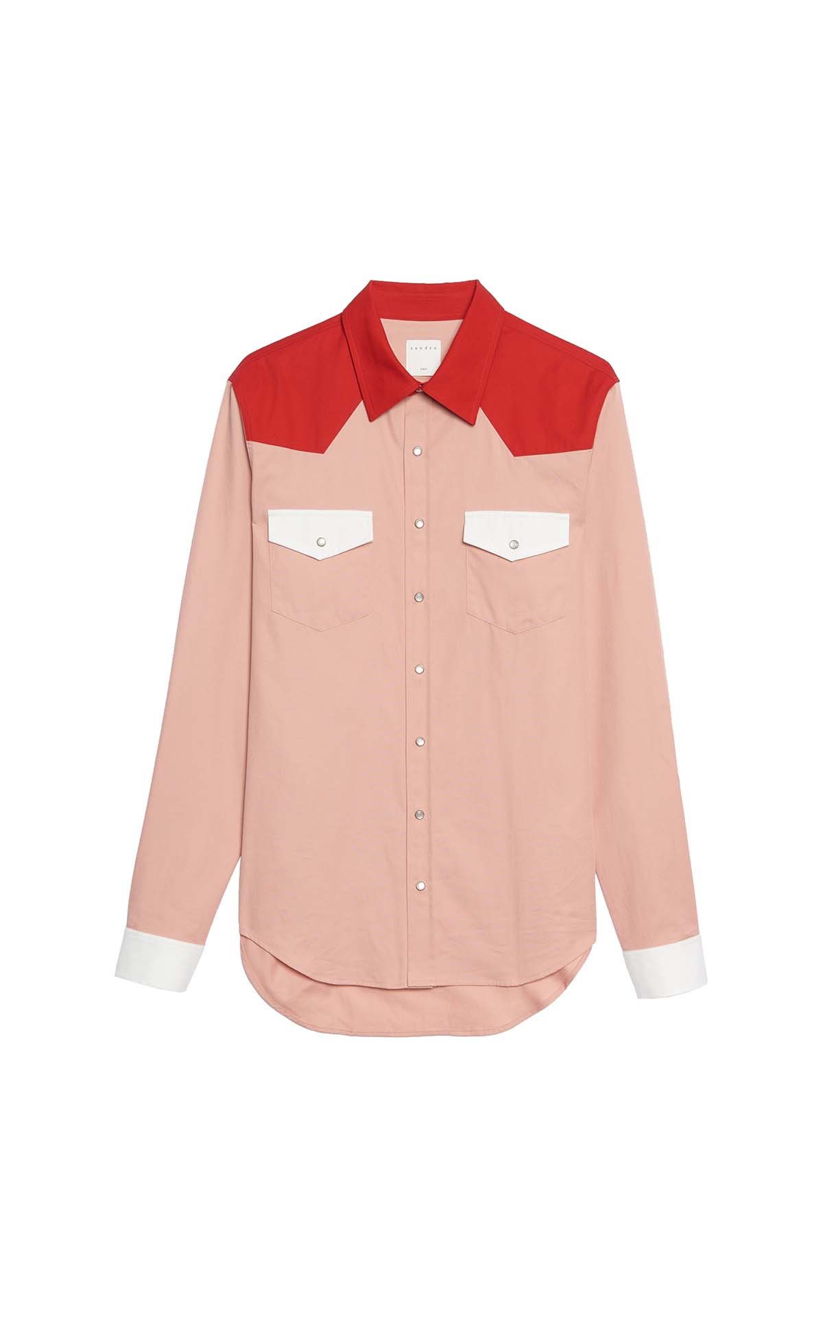 Sandro Light pink shirt at The Bicester Village Shopping Collection
